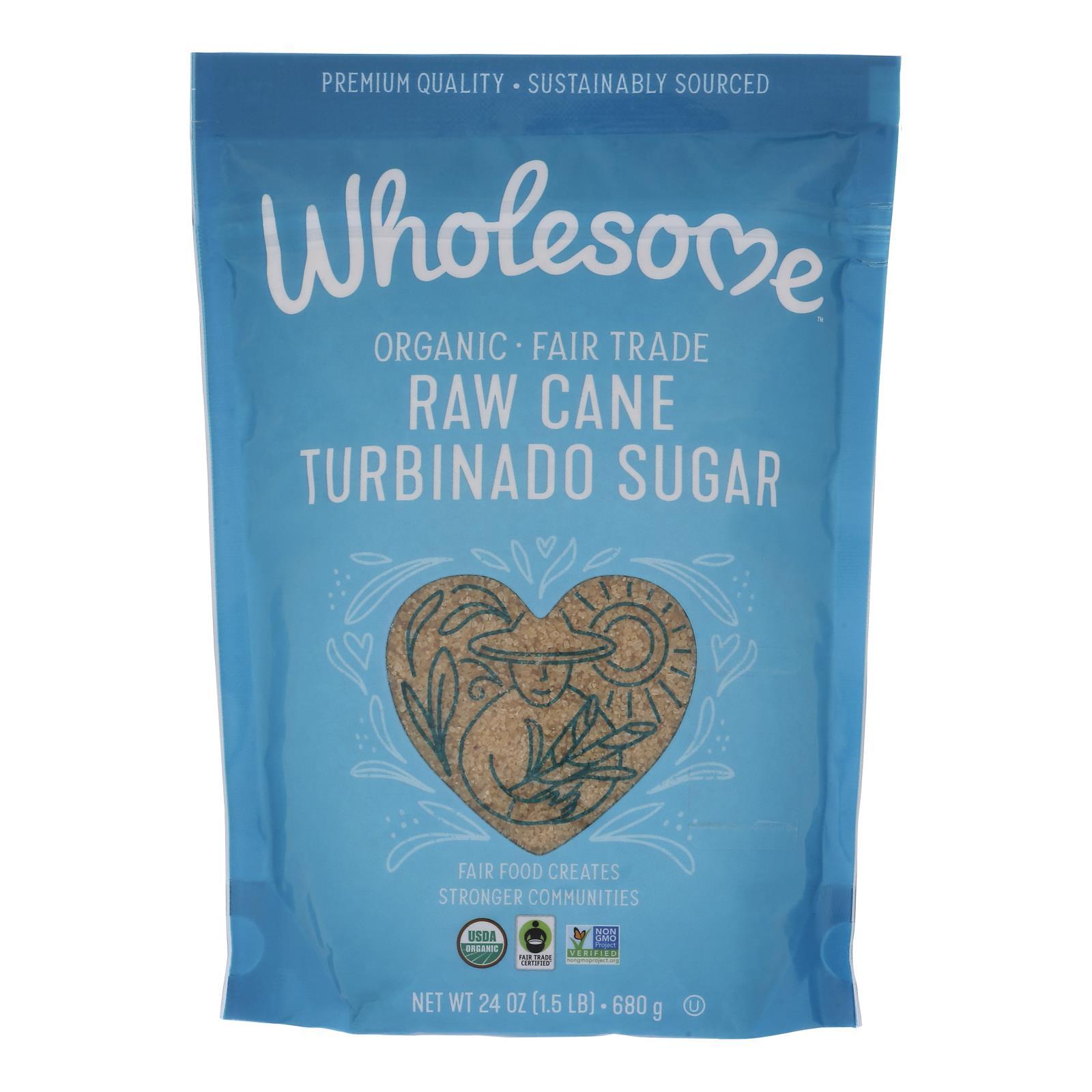 Wholesome Sweeteners Sugar - Organic - Turbinado - Raw Cane - 1.5 lb - case of 12