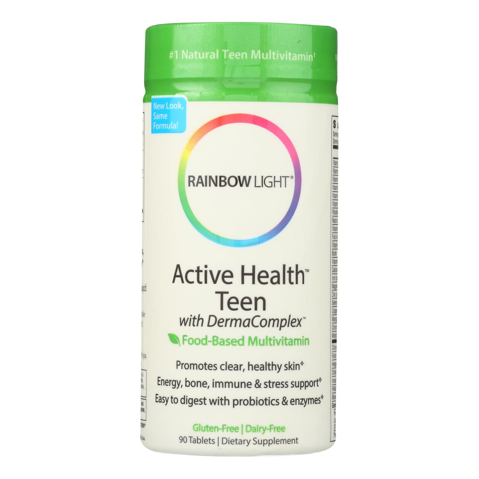 Rainbow Light Active Health Teen Multivitamin - 90 Tablets