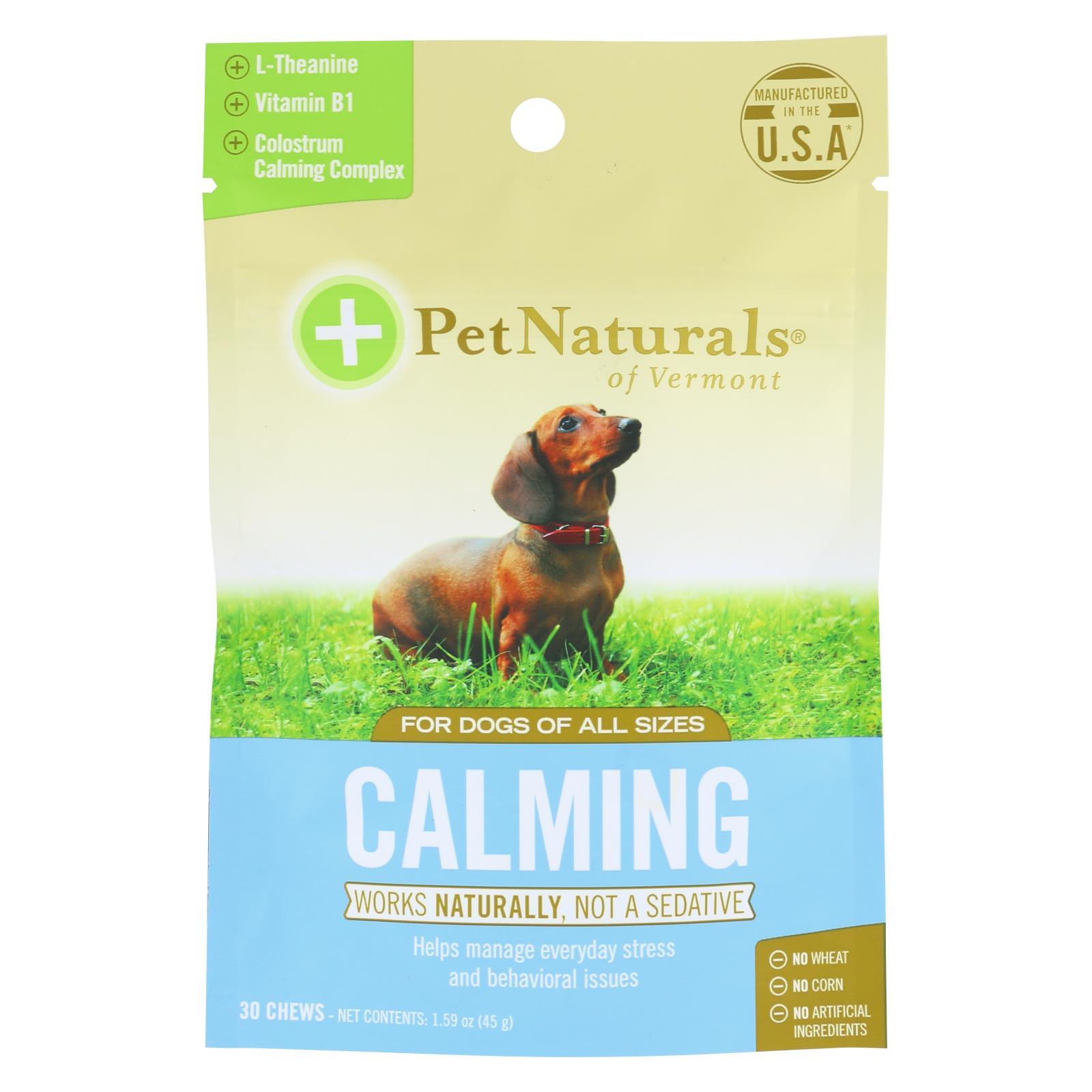Pet Naturals Of Vermont Calming Dog Chews  - 1 Each - 30 CT