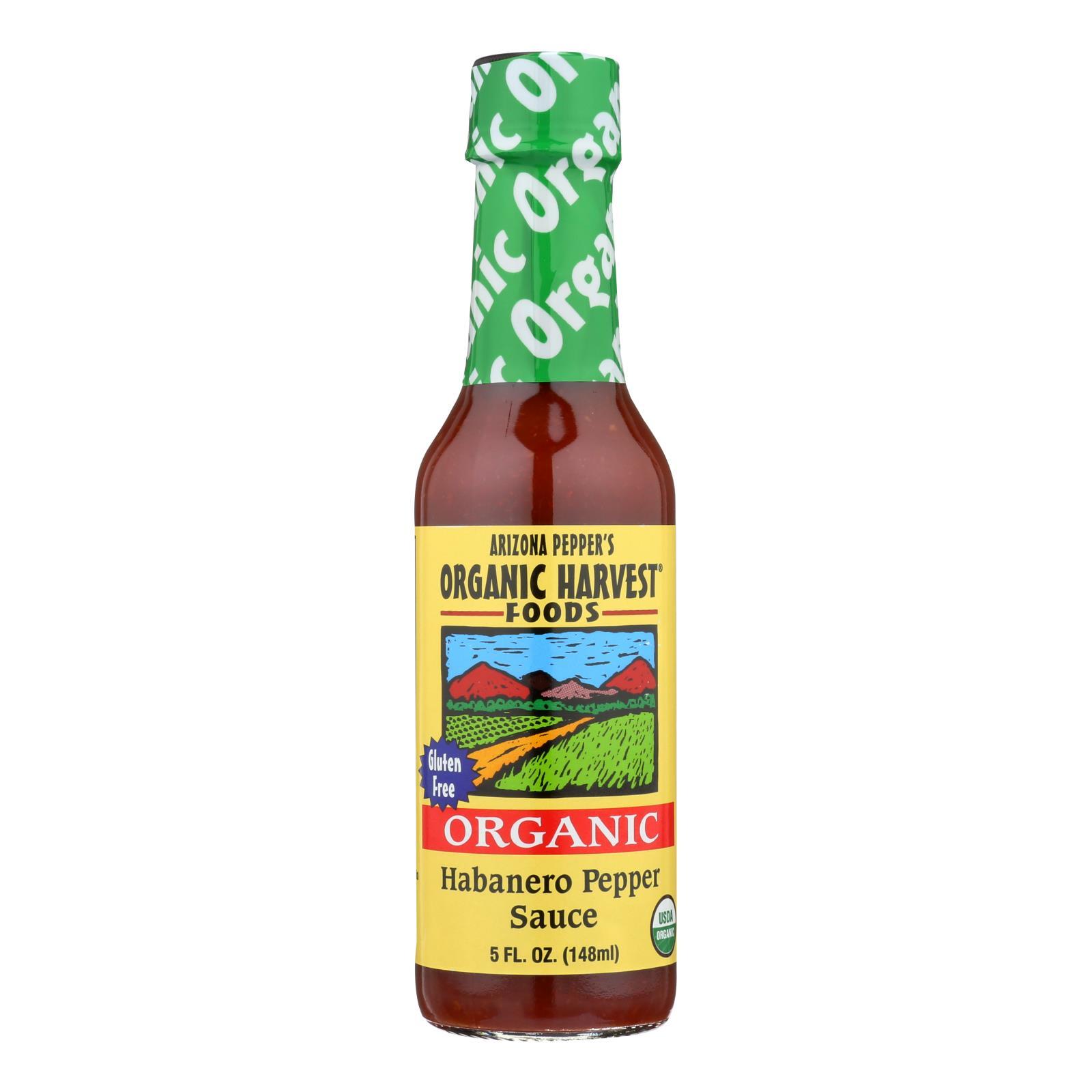 Organic Harvest Pepper Sauce - Habanero - Case of 12 - 5 oz.