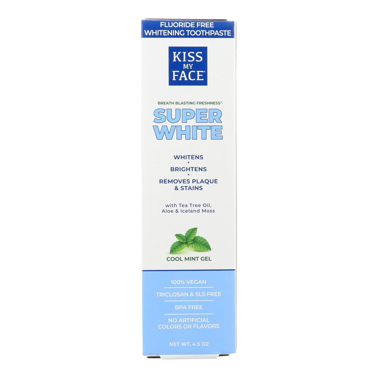 Kiss My Face Toothpaste - Whitening - Fluoride Free - Gel - 4.5 oz