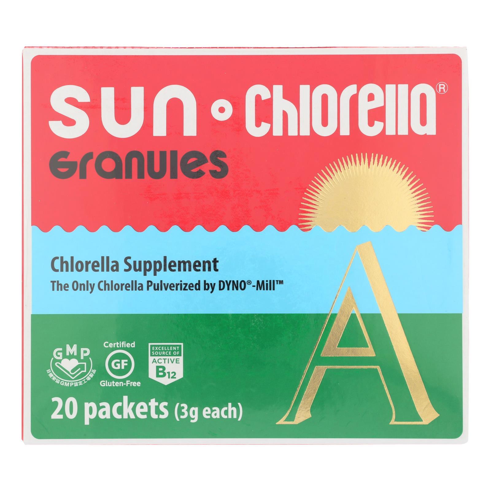 Sun Chlorella A Granules - 20 Individually Wrapped Packs