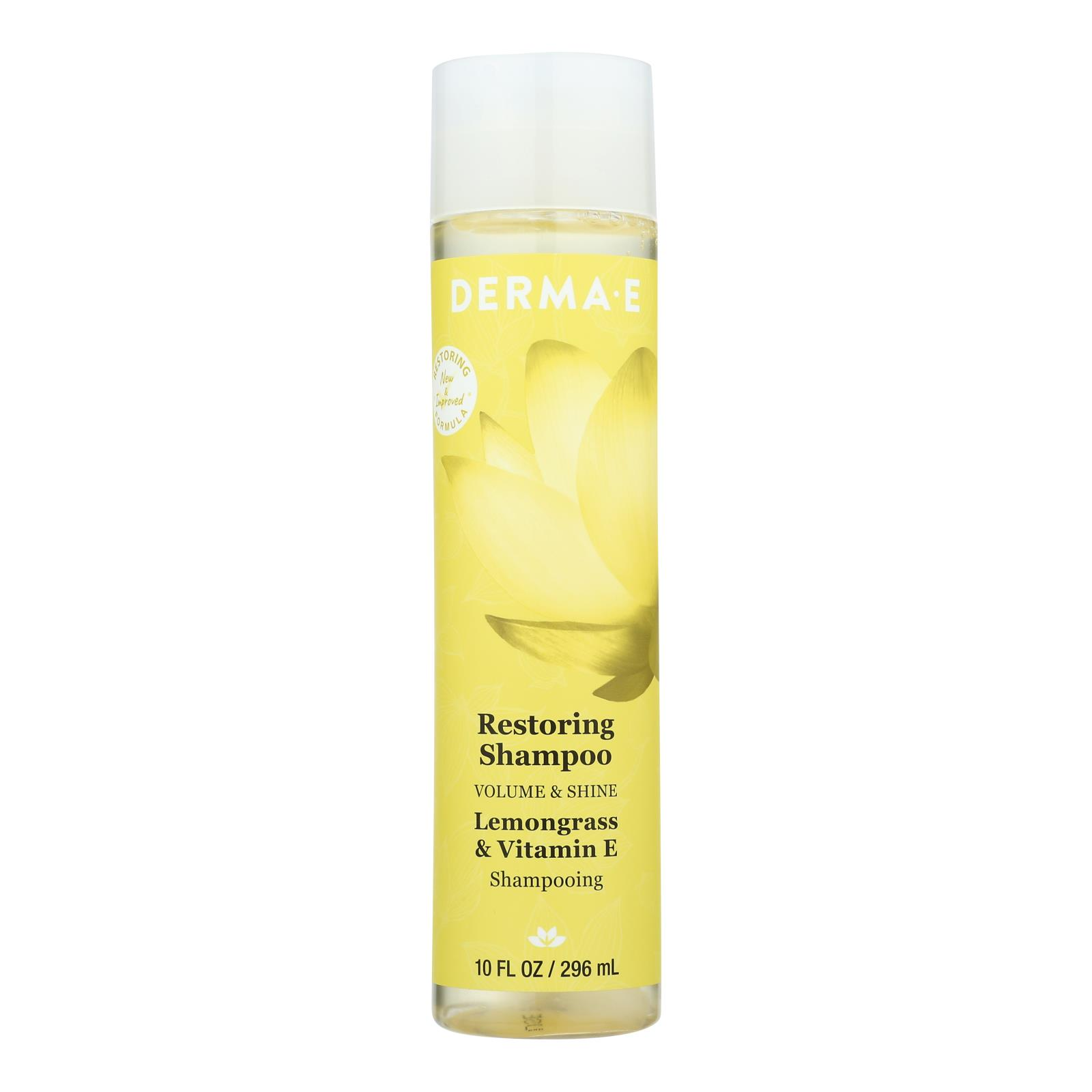 Derma-E Volume & Shine Restoring Shampoo, Lemongrass & Vitamin E  - 1 Each - 10 FZ