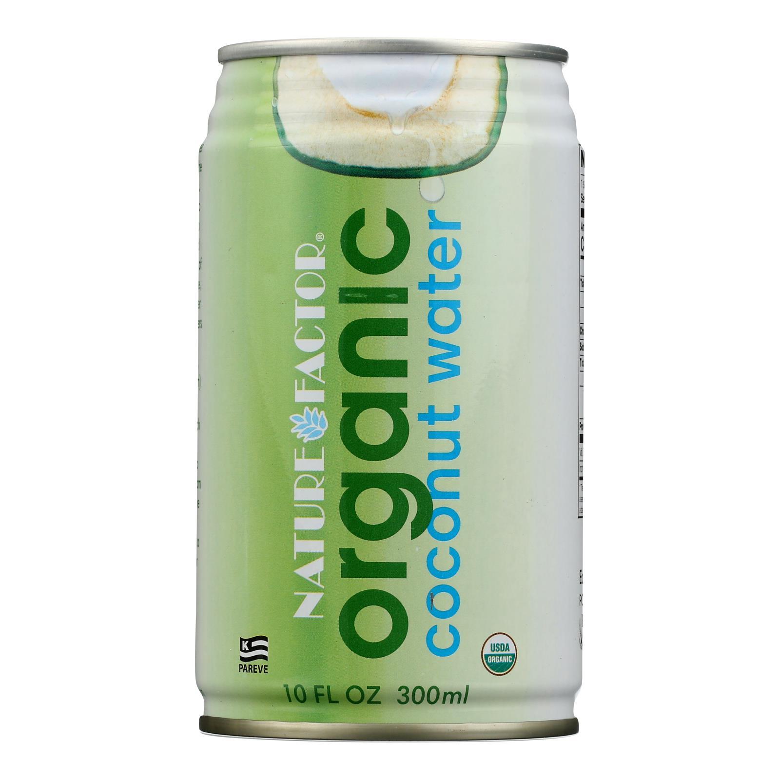 Nature Factor Organic Coconut Water - Case of 12 - 10.1 Fl oz.