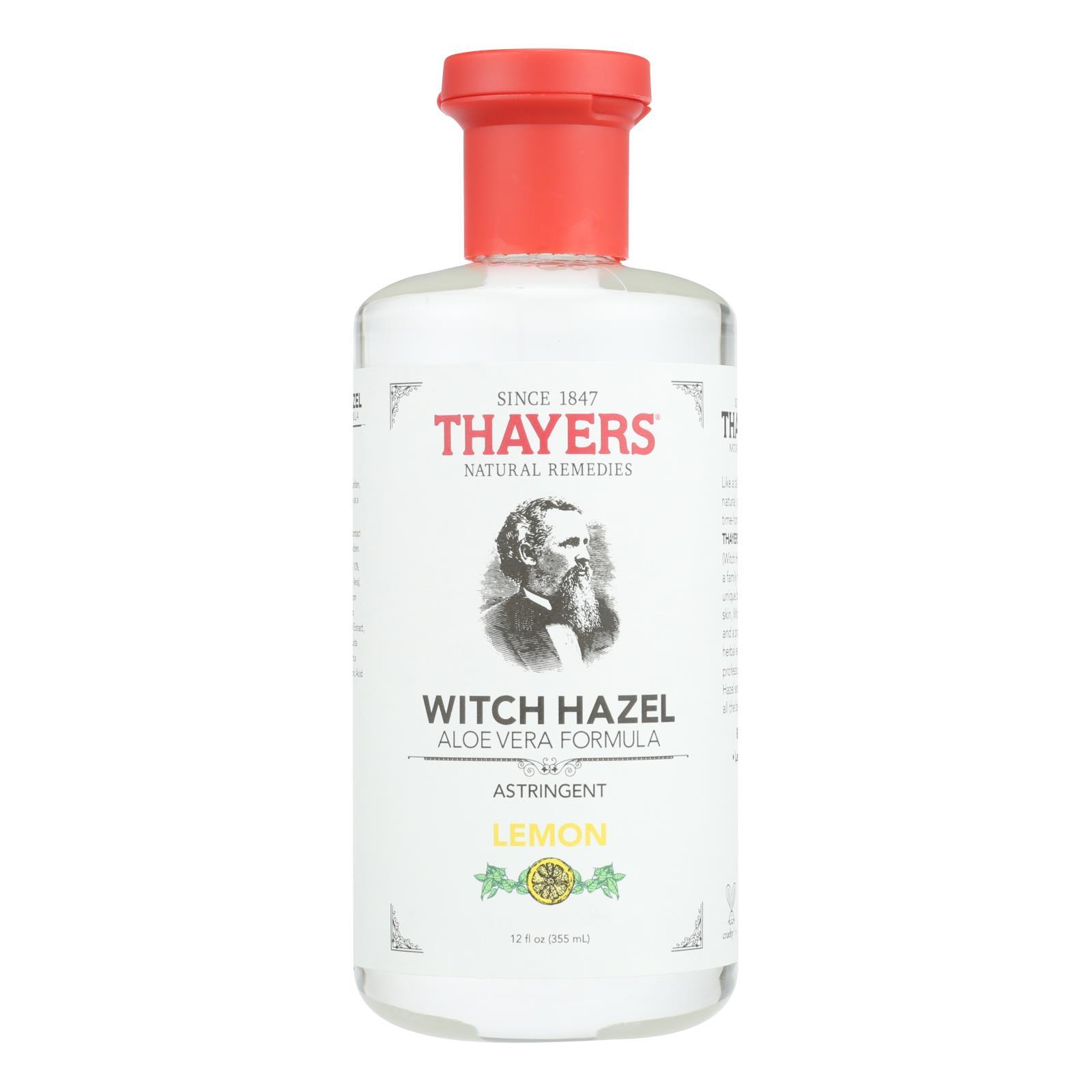 Thayers Witch Hazel with Aloe Vera Lemon - 12 fl oz