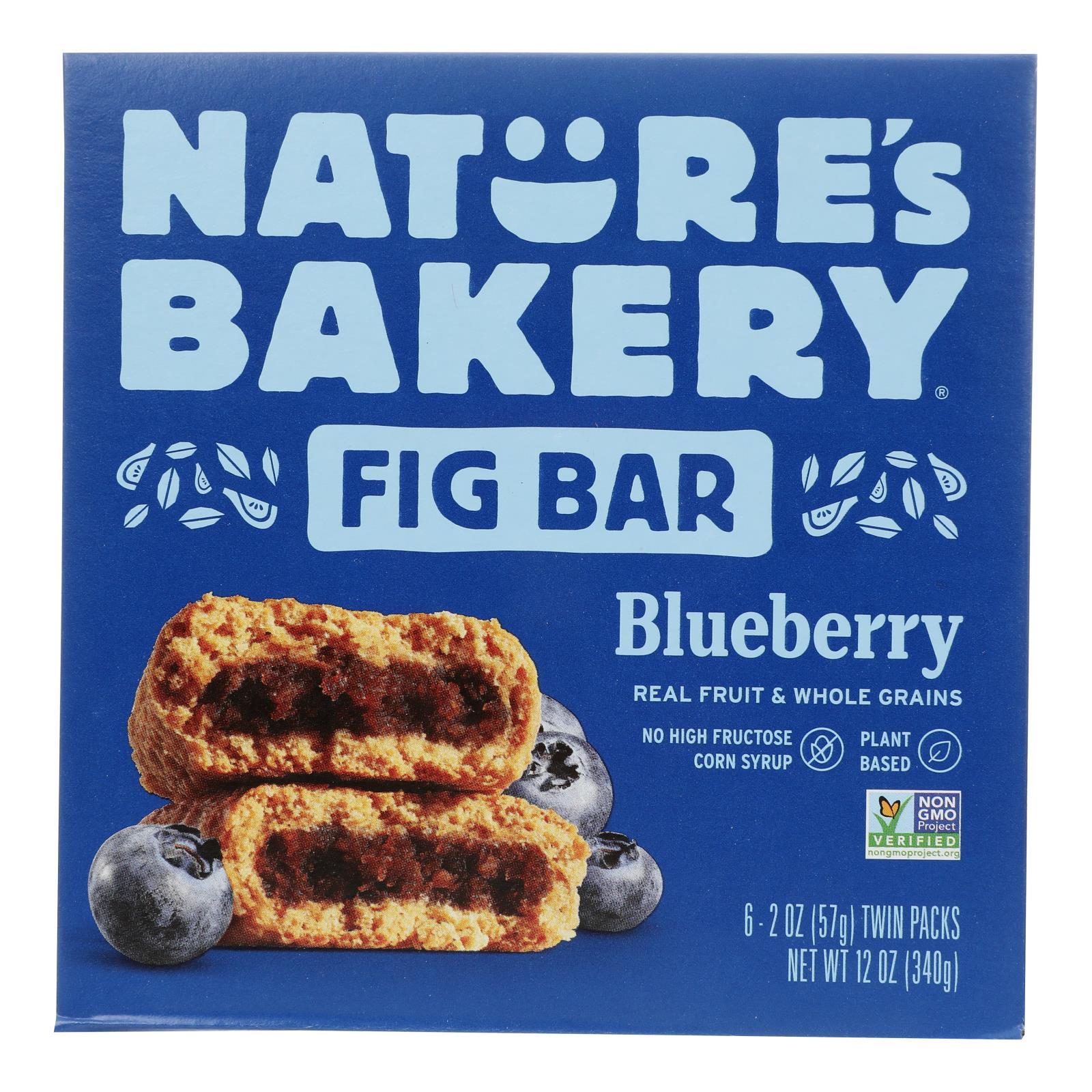 Nature's Bakery Stone Ground Whole Wheat Fig Bar - Blueberry - Case of 6 - 2 oz.