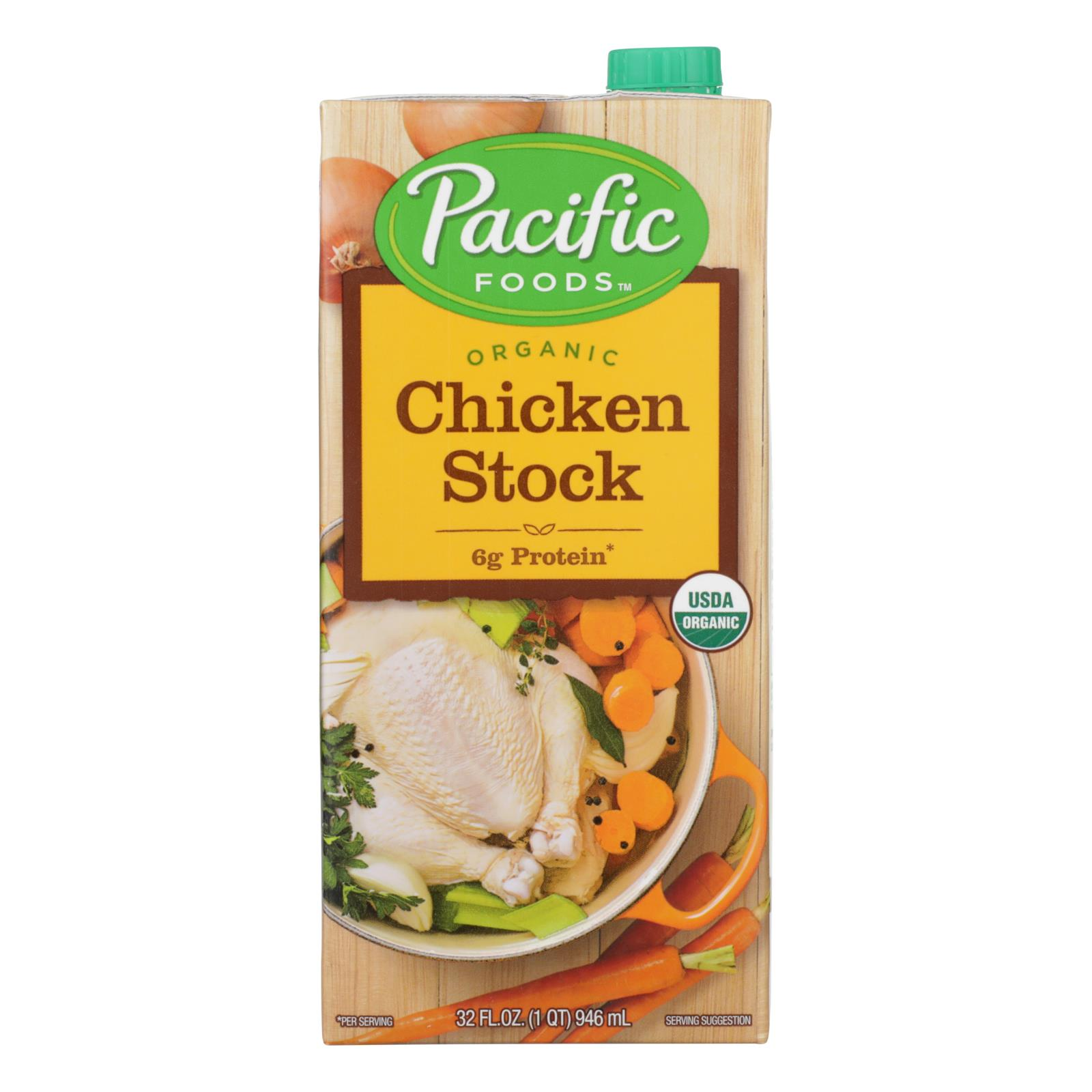 Pacific Natural Foods Simply Stock - Chicken - Case of 12 - 32 Fl oz.