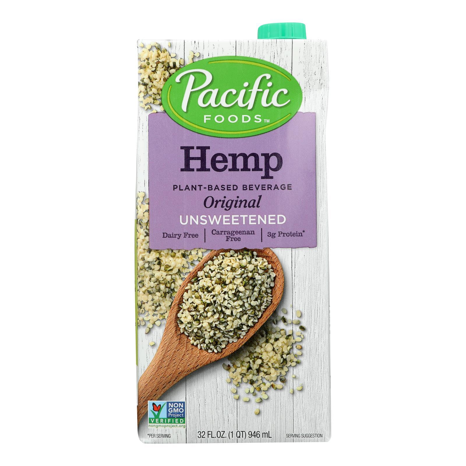 Pacific Natural Foods Hemp Original - Unsweetened - Case of 12 - 32 Fl oz.