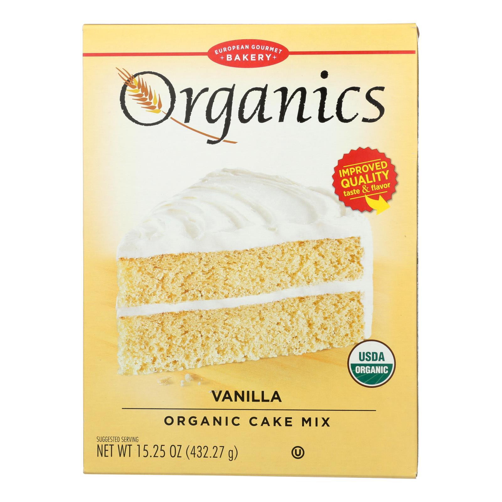 European Gourmet Bakery - Cake Mix Vanilla - Case of 6-15.25 OZ