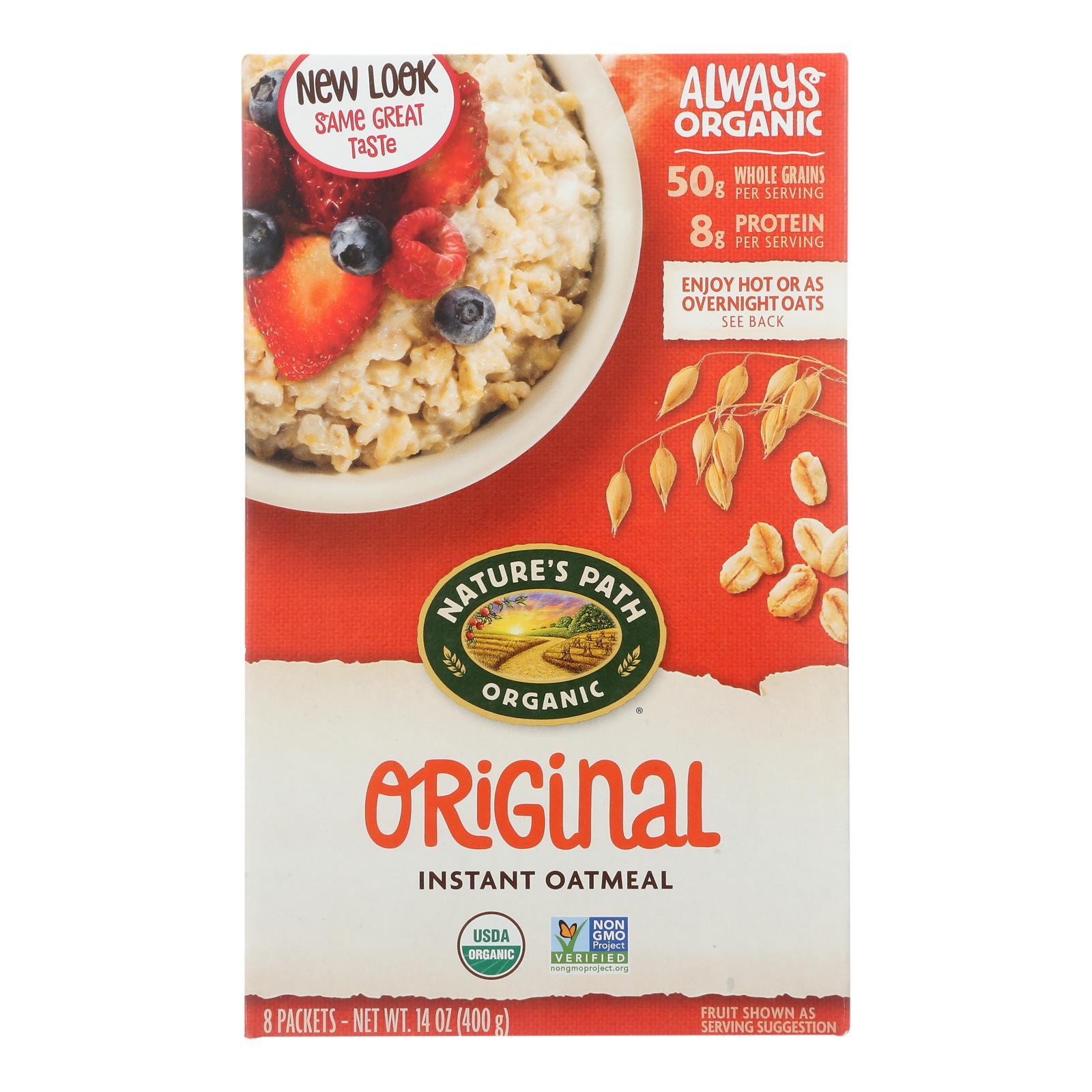 Nature's Path Organic Hot Oatmeal - Original - Case of 6 - 14 oz.