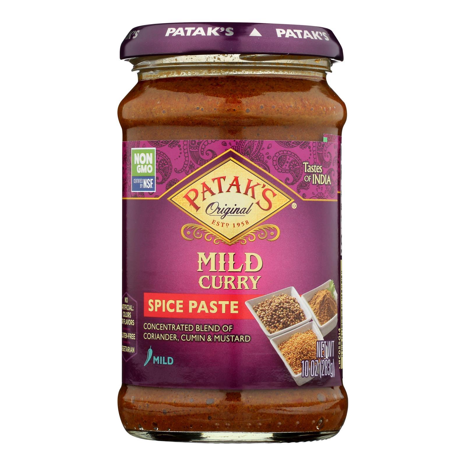 Pataks Spice Paste - Mild Curry - Mild - 10 oz - case of 6