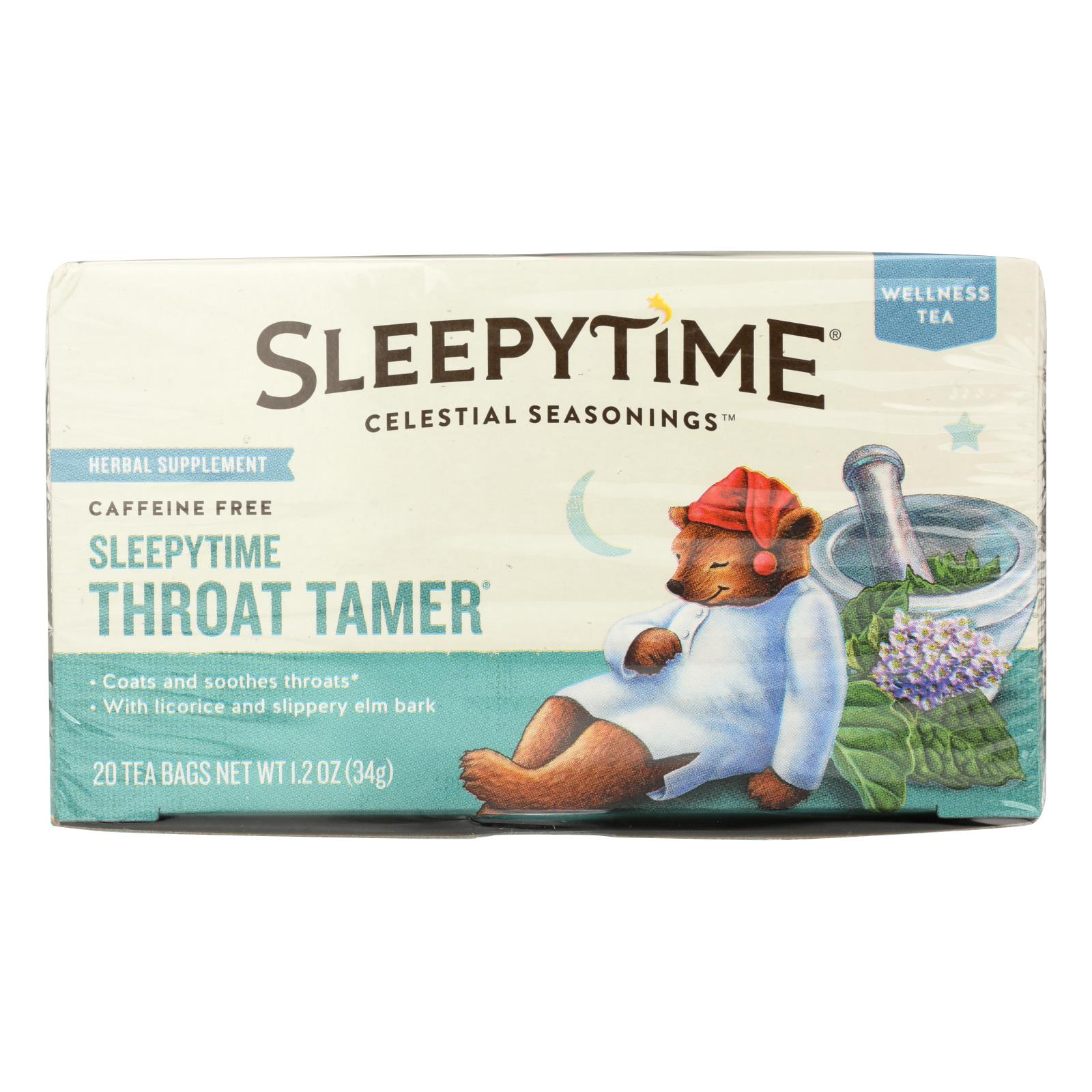Celestial Seasonings Throat Tamer Herbal Tea - Case of 6 - 20 BAG
