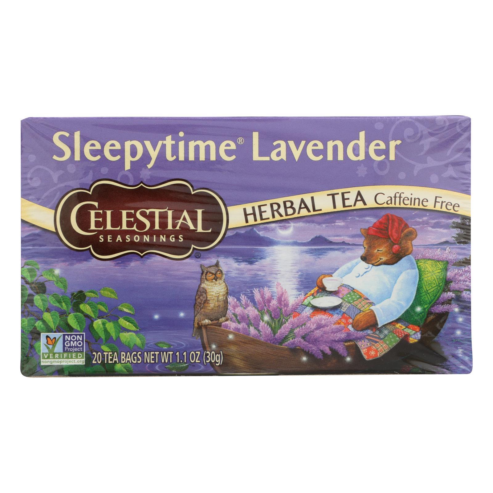 Celestial Seasonings - Tea - Sleepytime Lavender - Case of 6 - 20 Bags