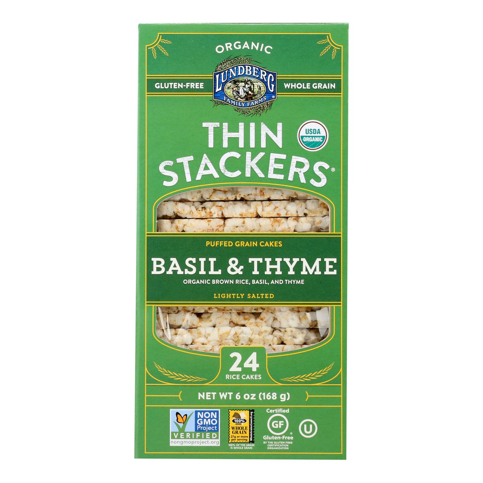 Lundberg Family Farms - Rice Ck Basil Thyme Thin - Case of 6-6 OZ