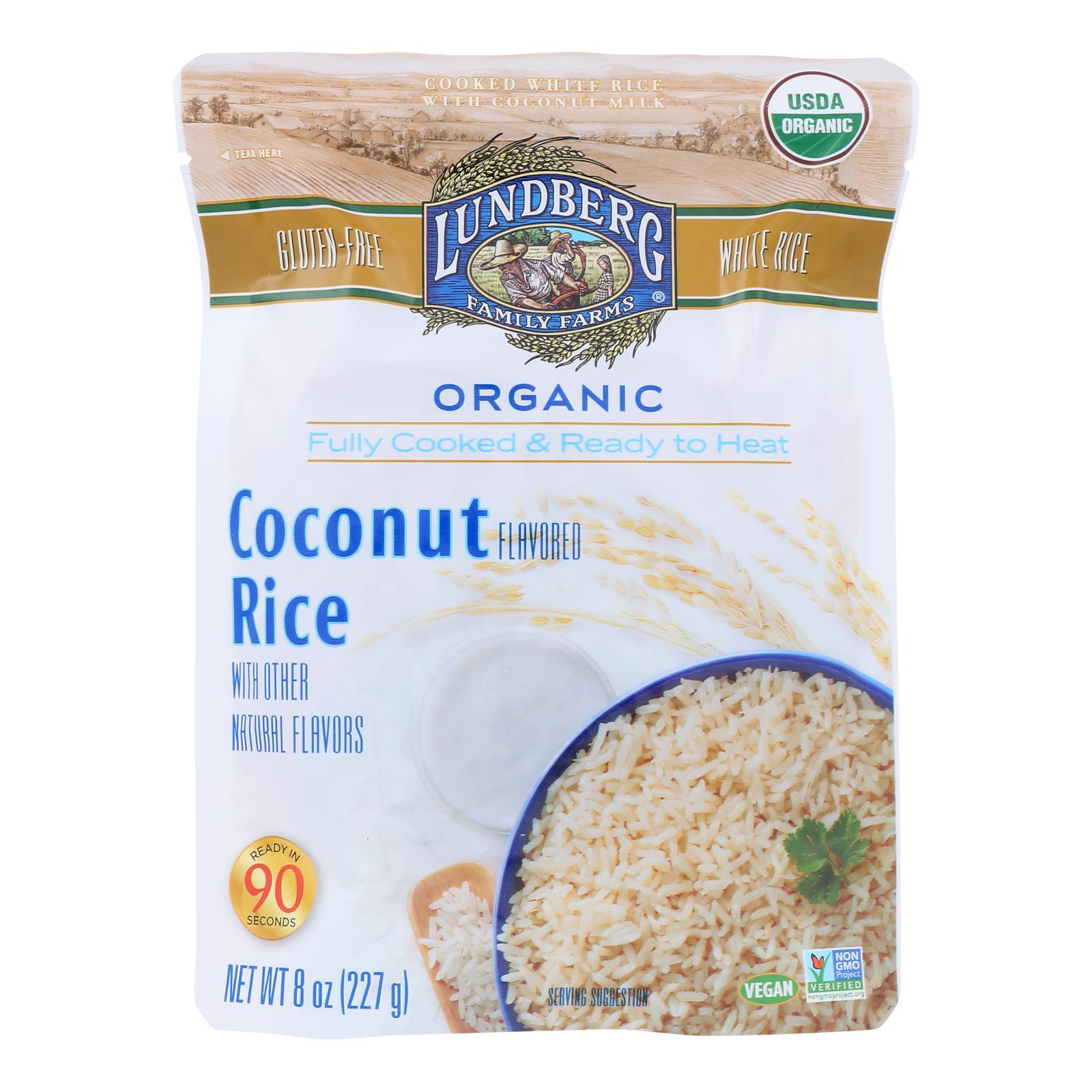 Lundberg Family Farms - Rice Coconut Rte - Case of 6 - 8 OZ