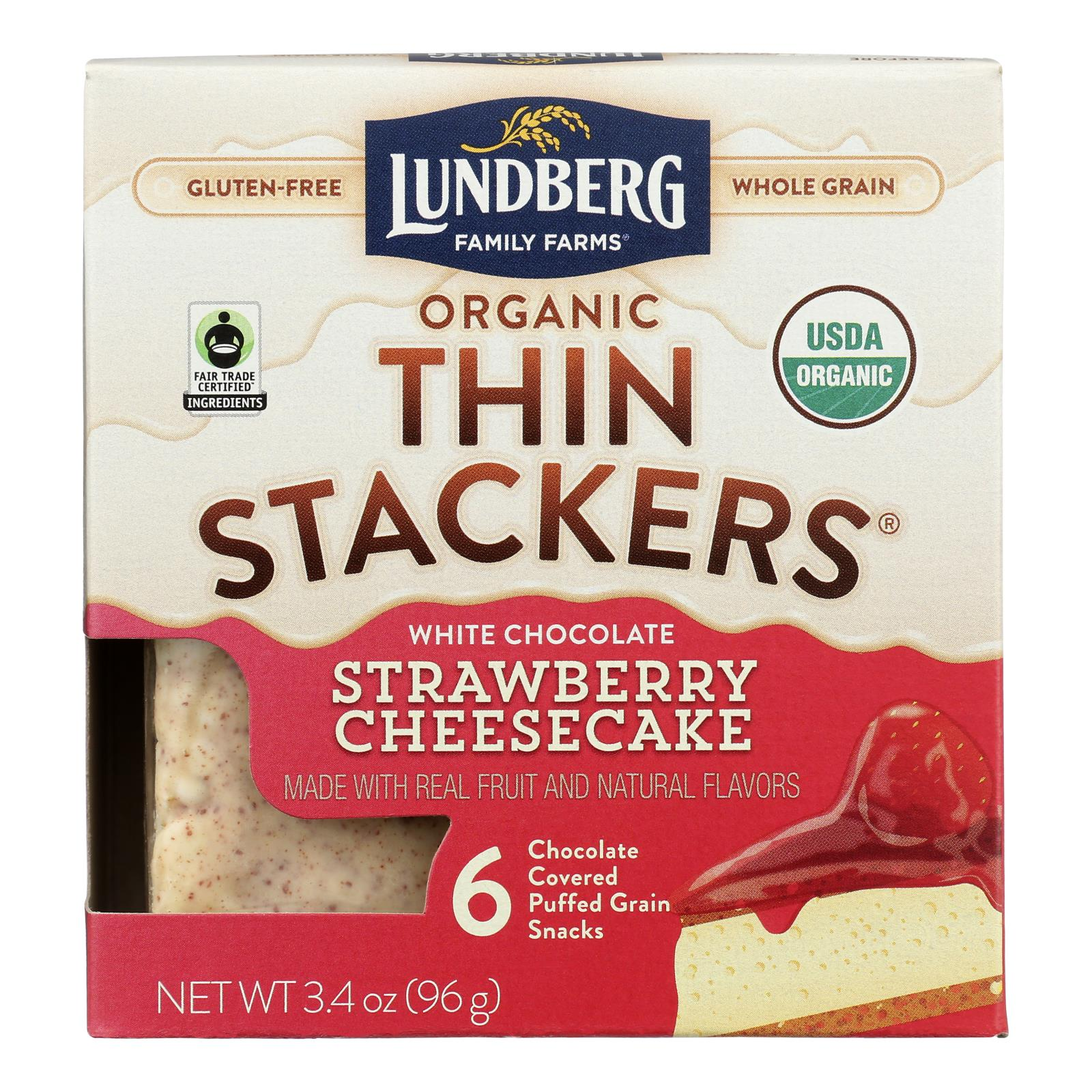 Lundberg Family Farms - Stackers White Chocolate Stw - Case of 6 - 3.4 OZ