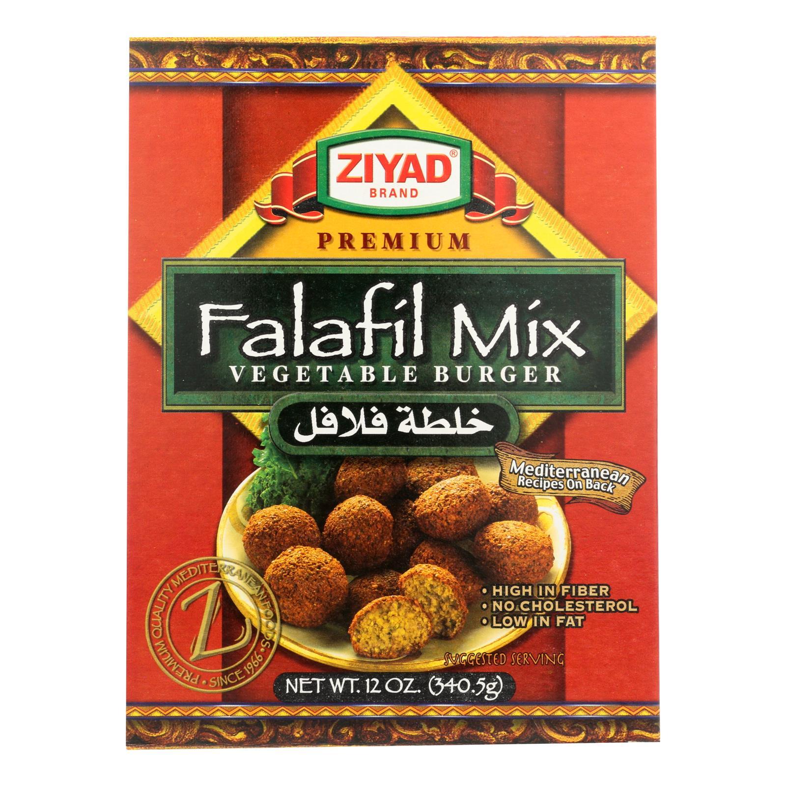 Ziyad Brand Falafil Mix - Vegetable Burger - Case of 6 - 12 OZ