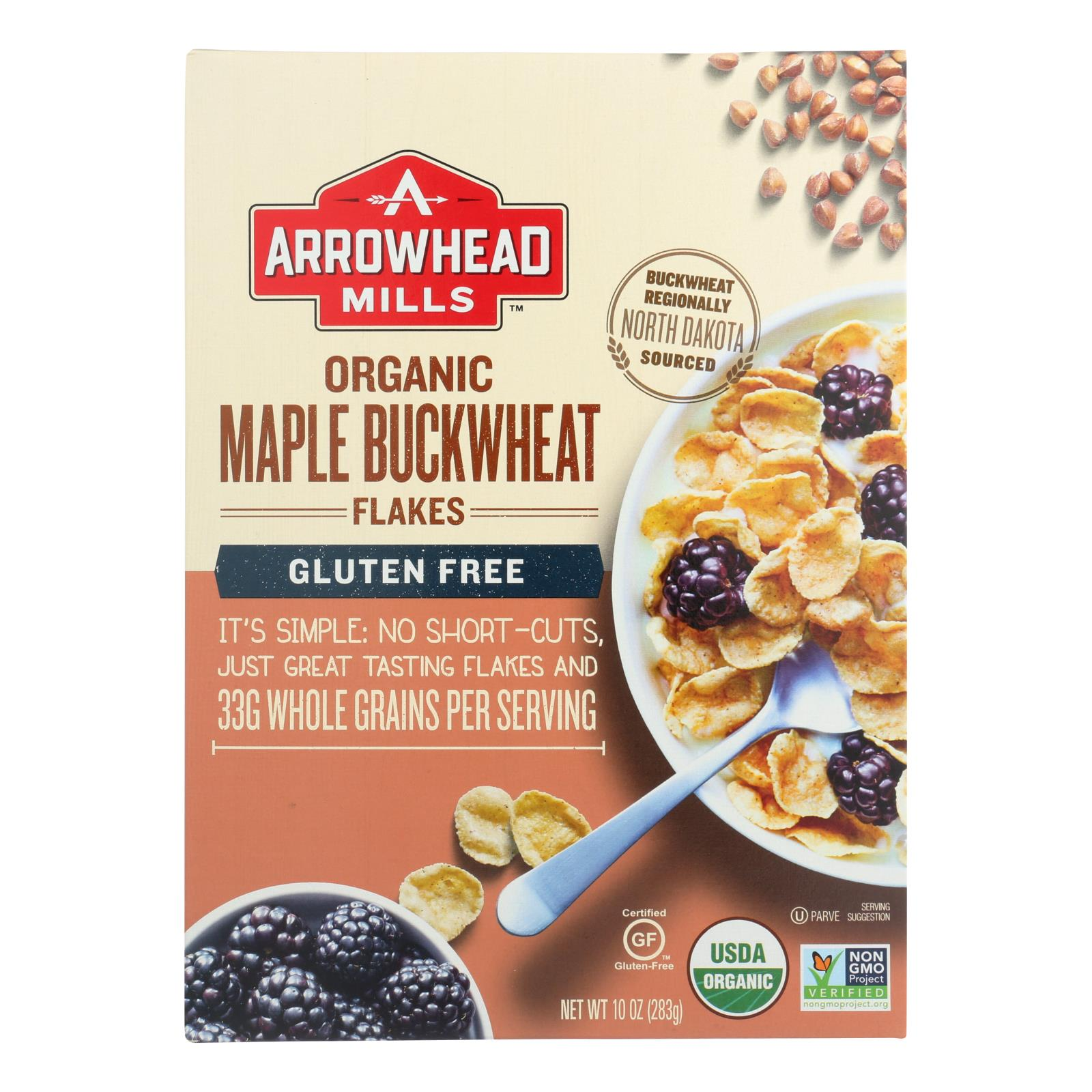 Arrowhead Mills - Cereal - Maple Buckwheat Flakes - Case of 6 - 10 oz.