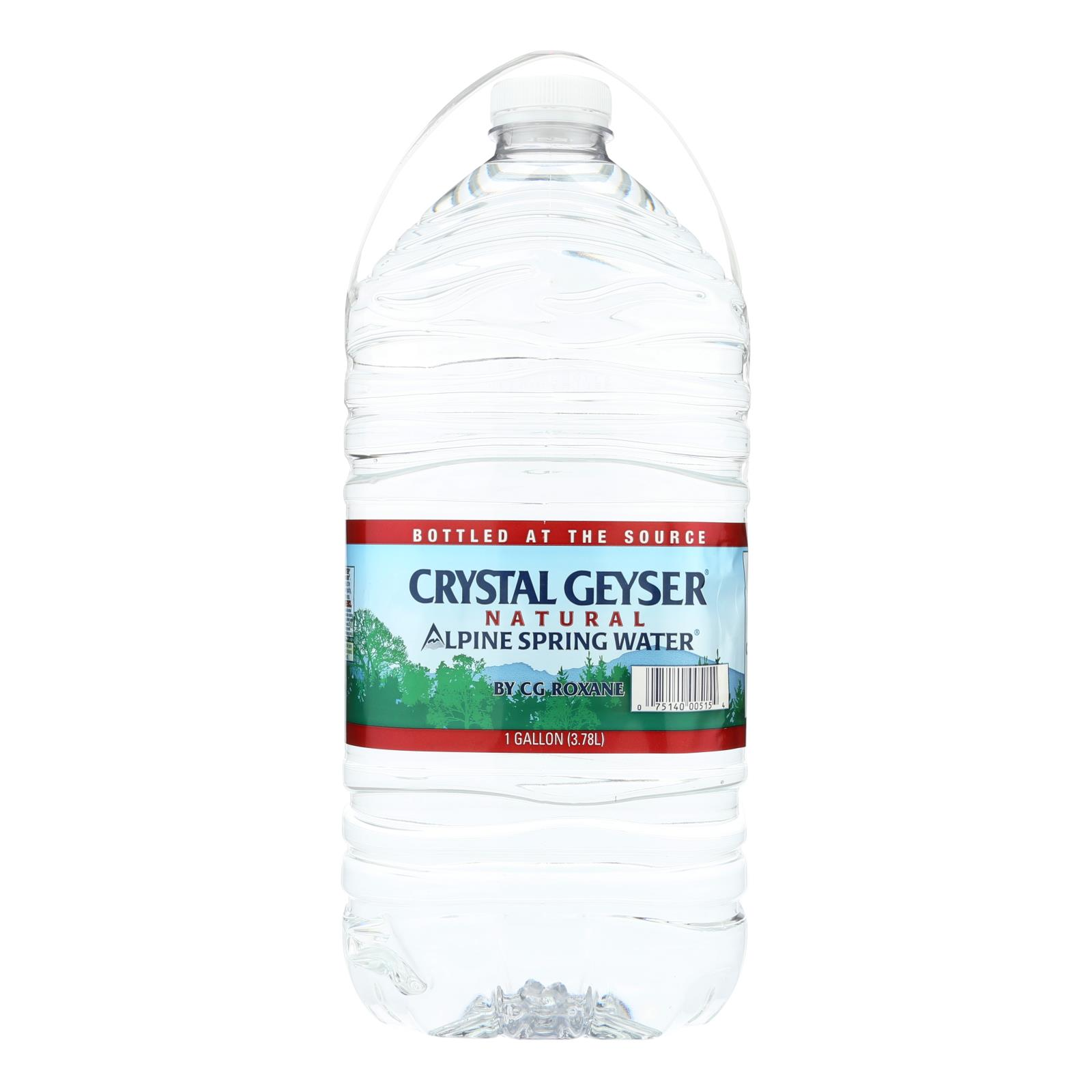 Crystal Geyser Alpine Spring Water - Case of 6 - 1 Gal