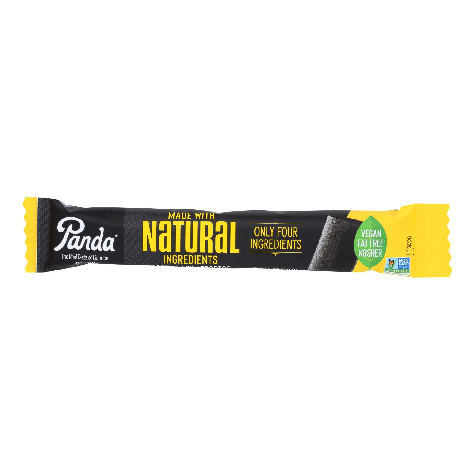 Panda Licorice Bars - Natural - Case of 36 - 1.125 oz