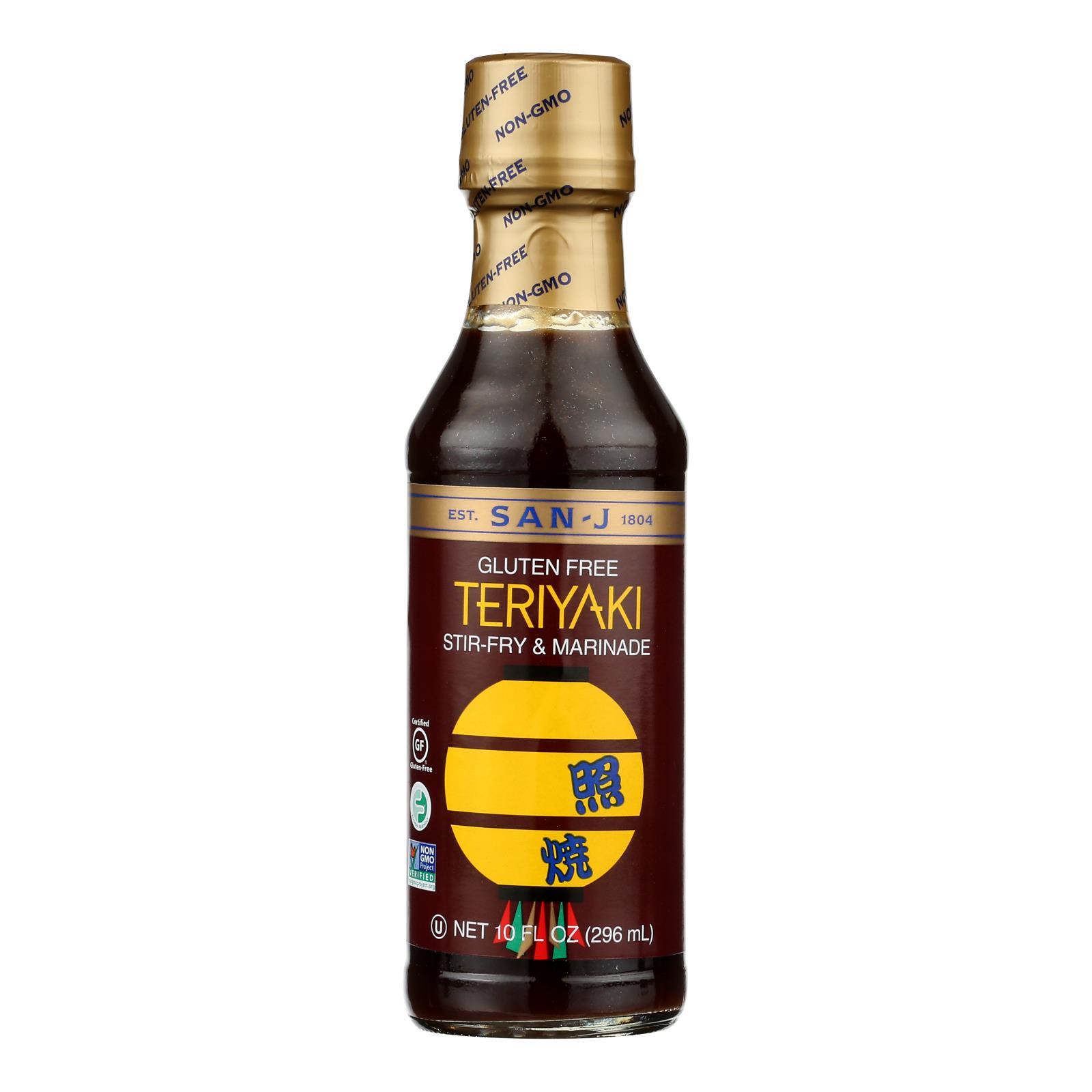 San - J Asian Cooking Sauce - Teriyaki - Case of 6 - 10 Fl oz.