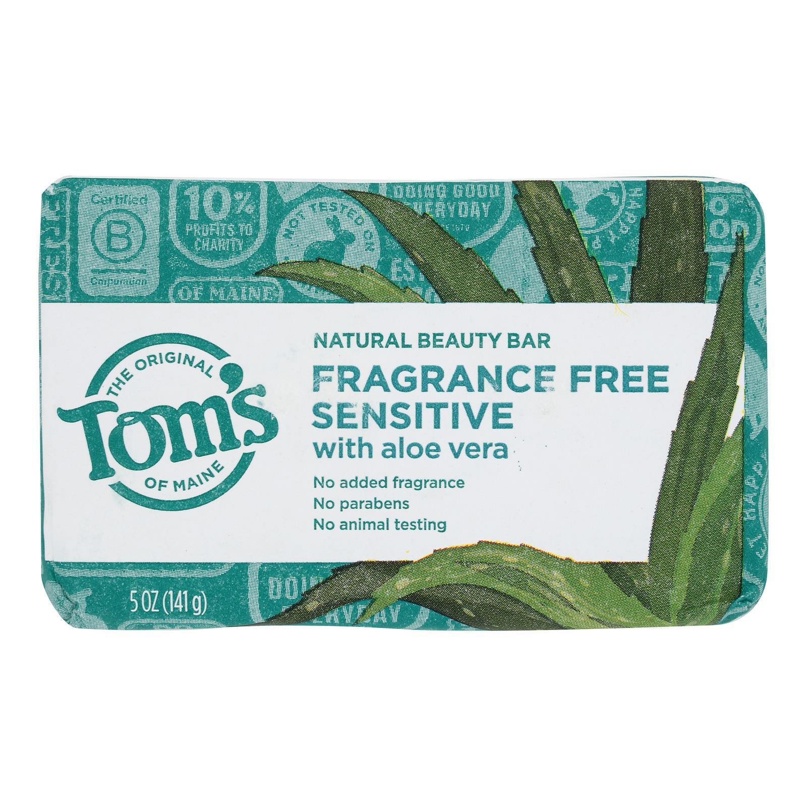 Tom's Of Maine - Beauty Bar Sensitive Fat Free - Case of 6 - 5 OZ