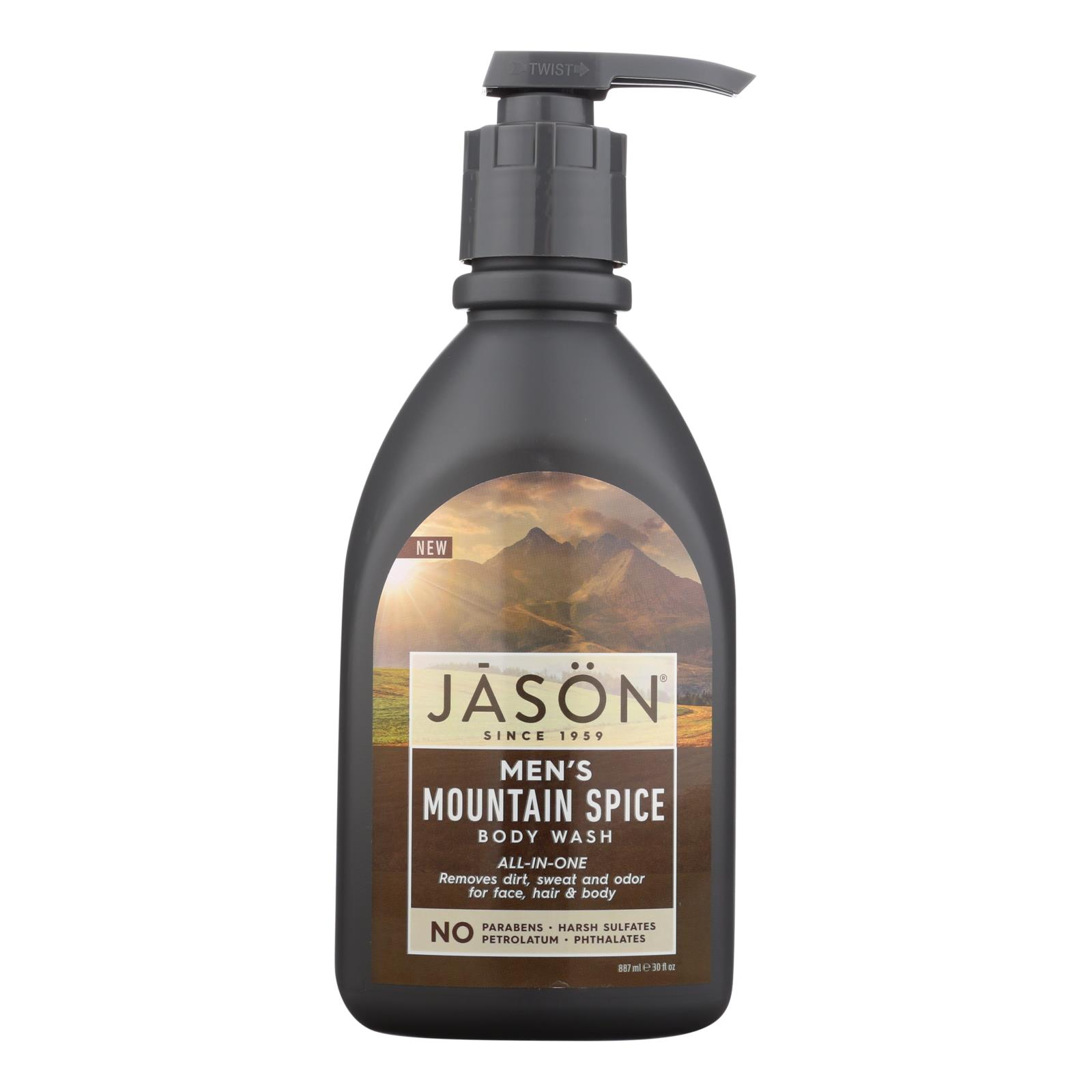Jason Natural Products Men's Body Wash - Mountain Spice - 30 fl oz