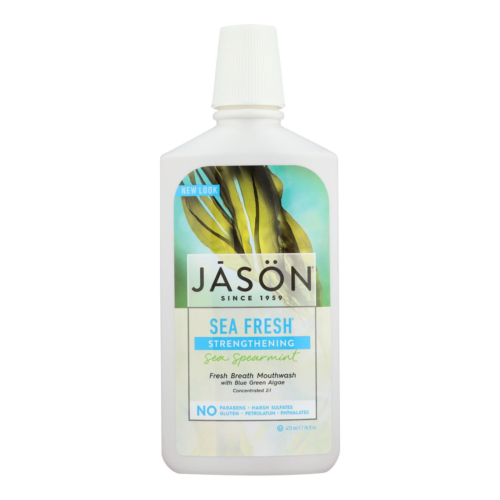 Jason Sea Fresh Biologically Active Mouthwash Deep Sea Spearmint - 16 fl oz