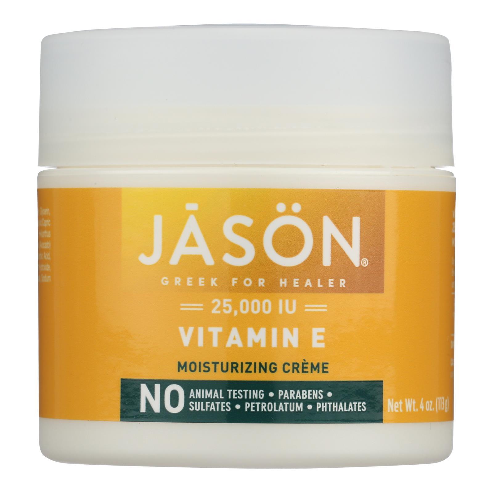 Jason Moisturizing Creme Vitamin E Age Renewal Fragrance Free - 25000 IU - 4 oz
