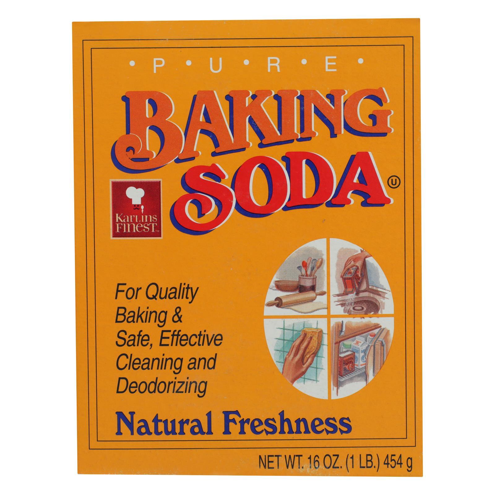 Karlin Food - Baking Soda - Case of 24 - 16 OZ