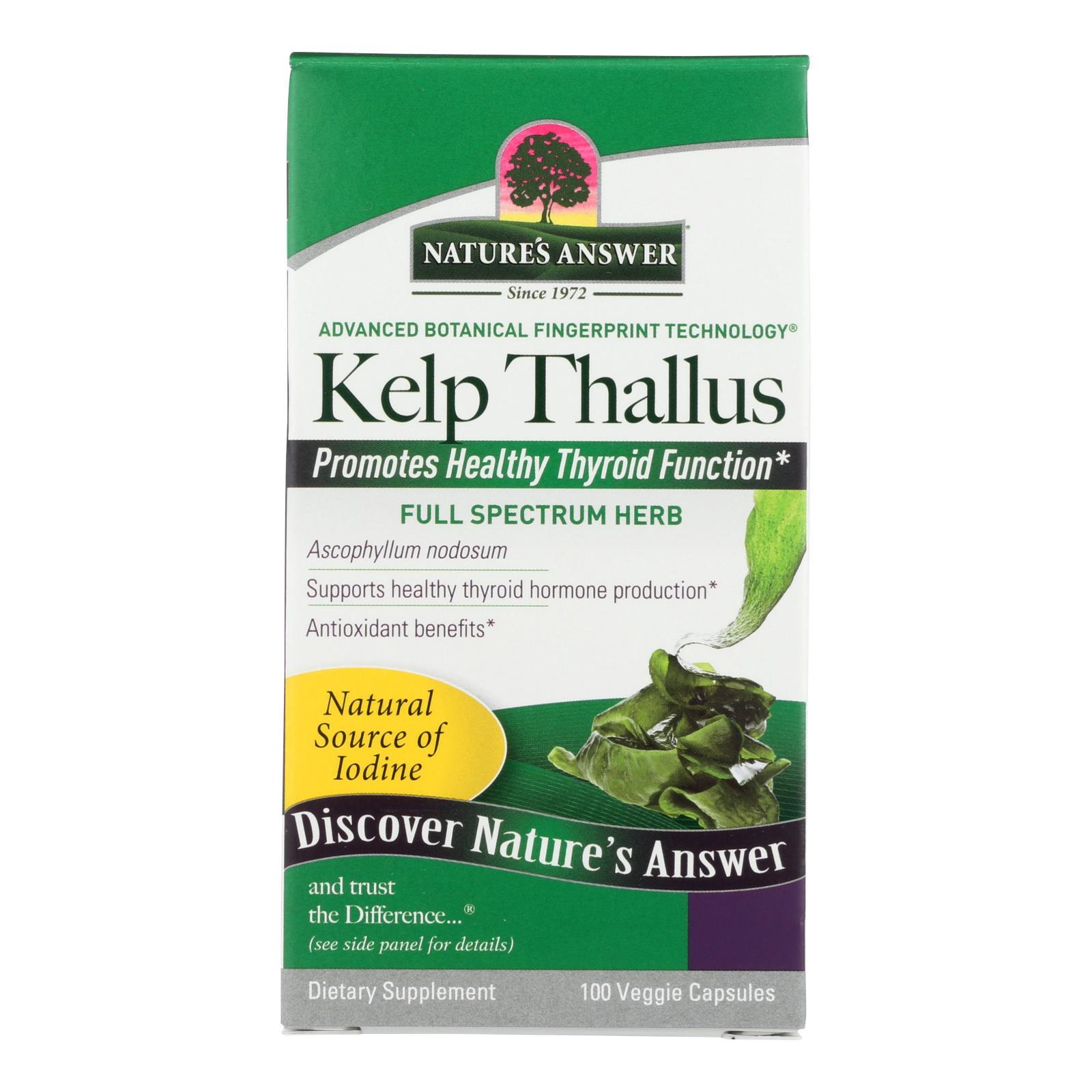Nature's Answer - Kelp Thallus - 100 Capsules