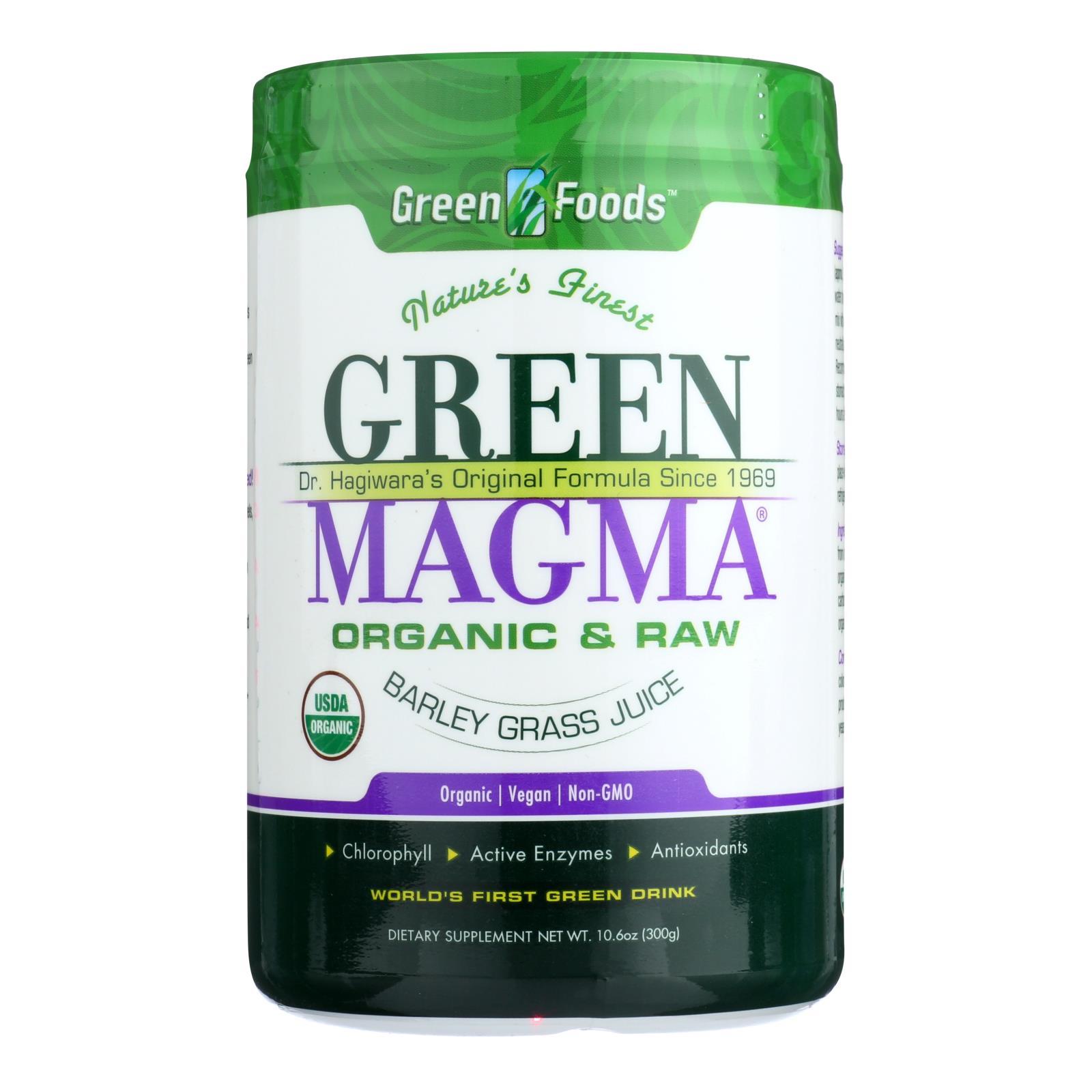 Green Foods Dr Hagiwara Green Magma Barley Grass Juice Powder - 10.6 oz