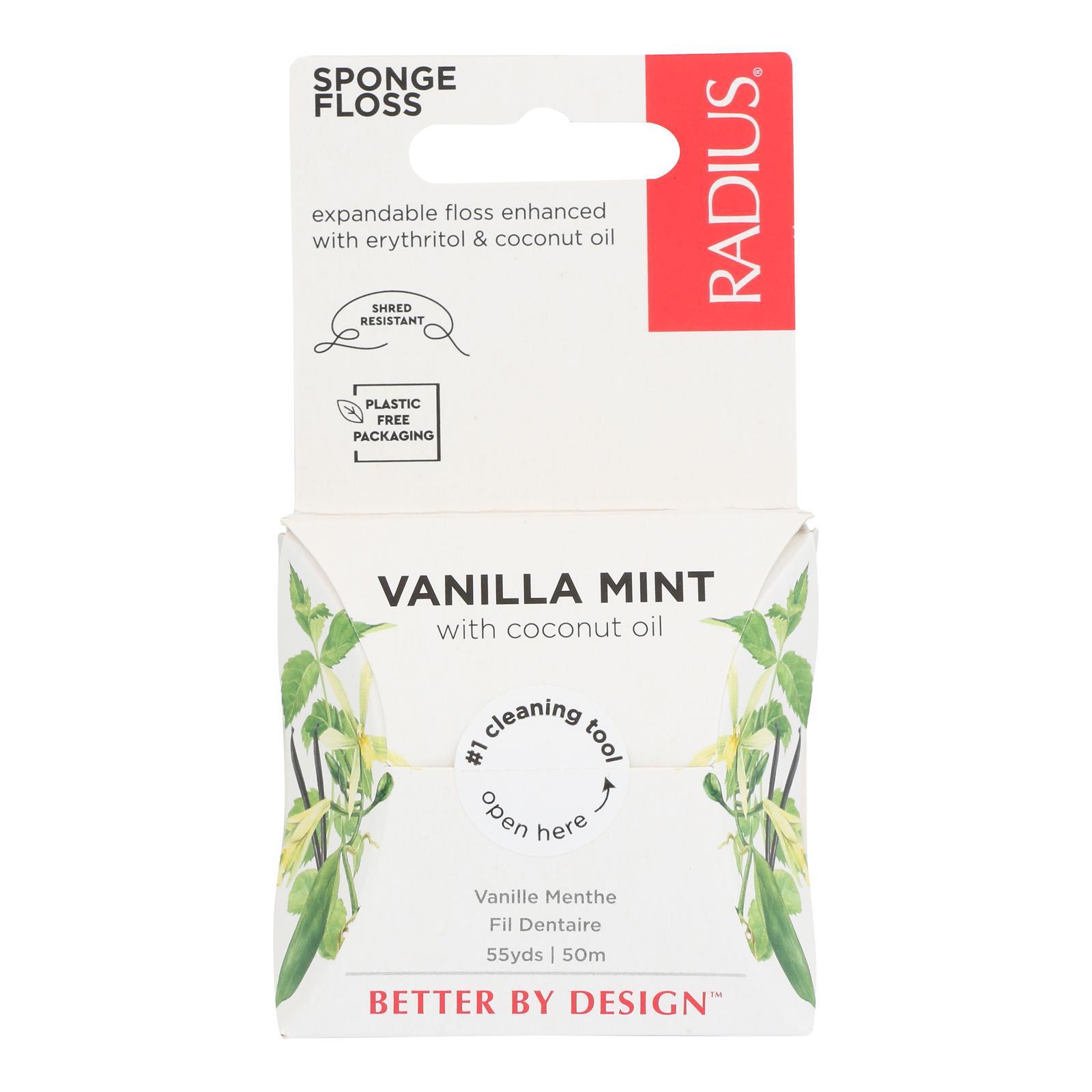 Radius - Floss Vanilla Mint - Case of 6 - 55 YD