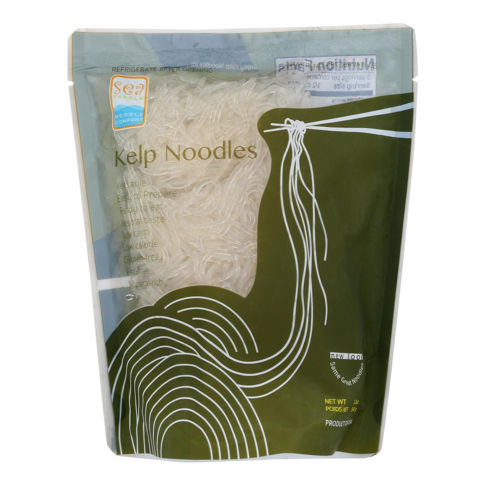 Sea Tangle Noodle Company Kelp Noodles  - Case of 12 - 12 OZ