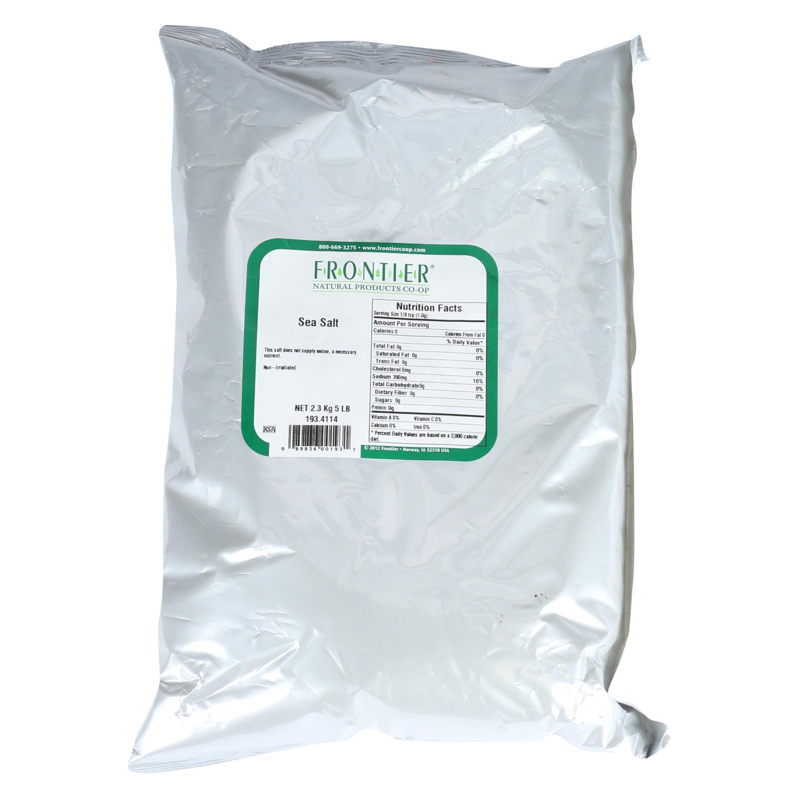 Frontier Herb Sea Salt - Table Grind - Bulk - 5 lbs