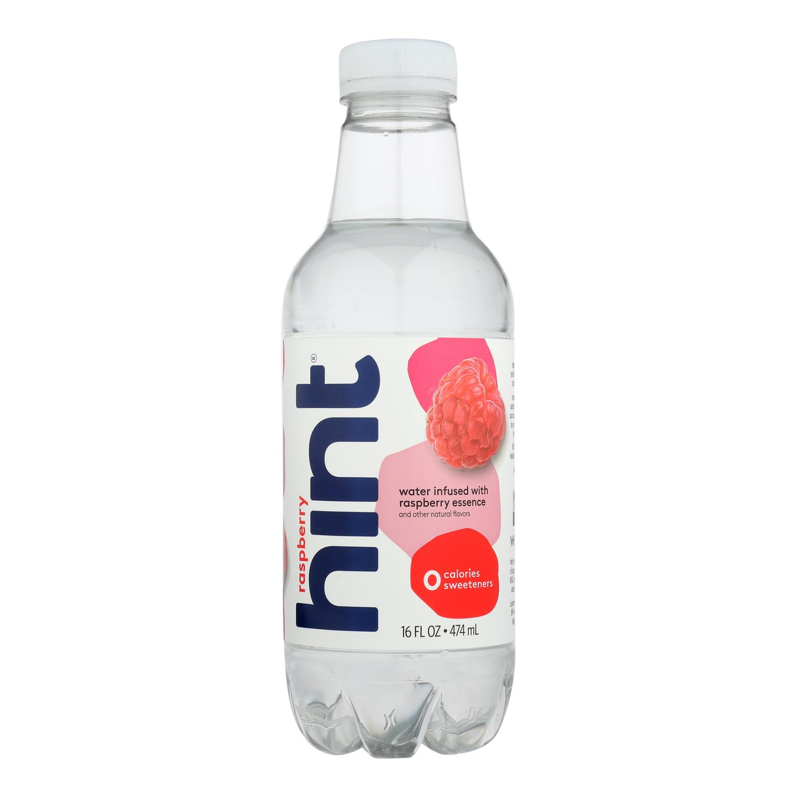 Hint Raspberry Water - Raspberry - Case of 12 - 16 Fl oz.