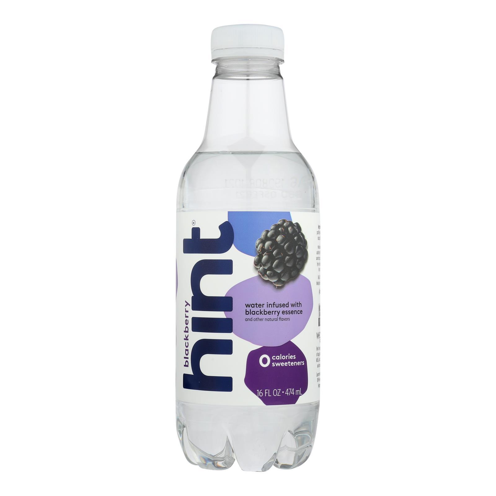 Hint Blackberry Water - Blackberry - Case of 12 - 16 Fl oz.