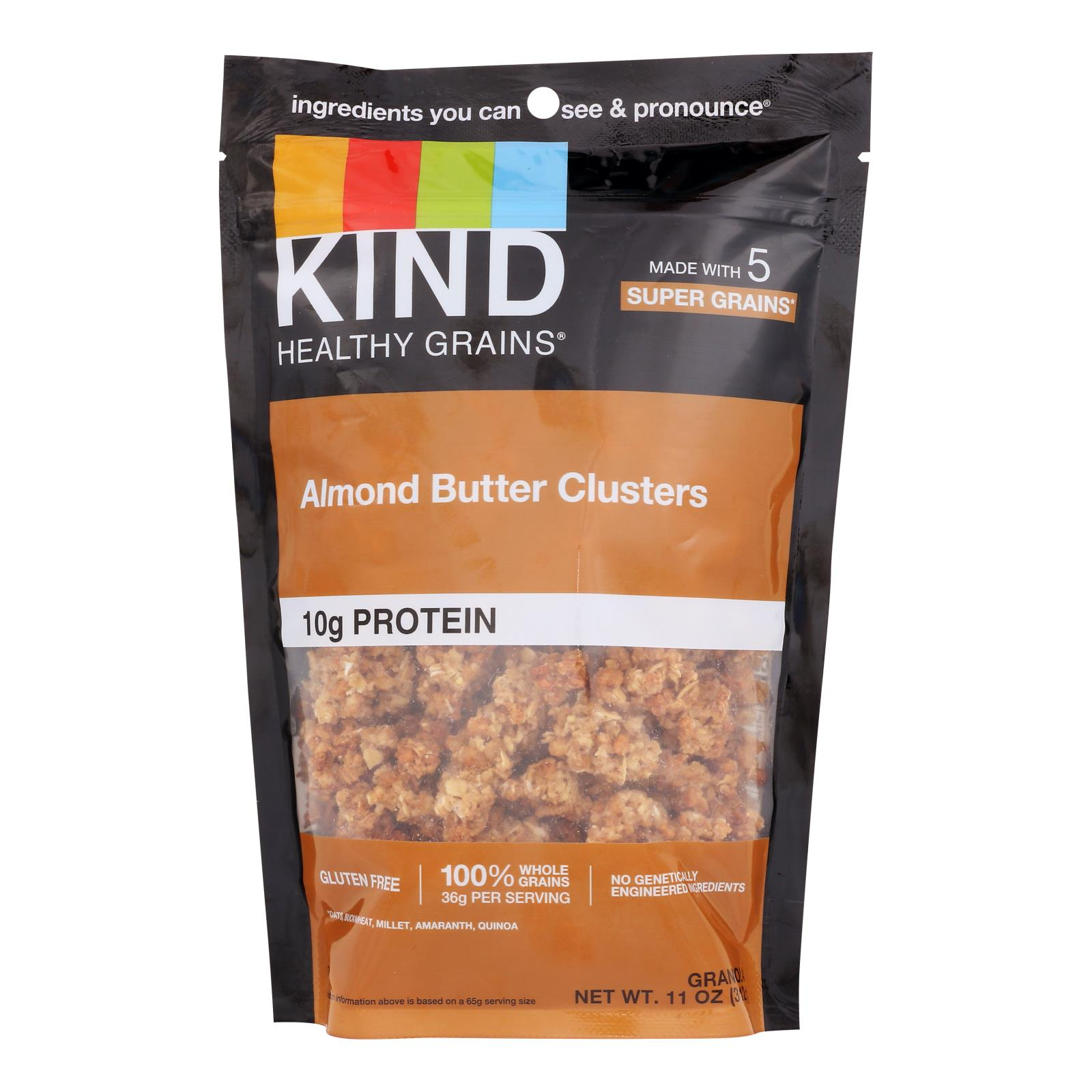 Kind Almond Butter Whole Grain Clusters - Case of 6 - 11 OZ