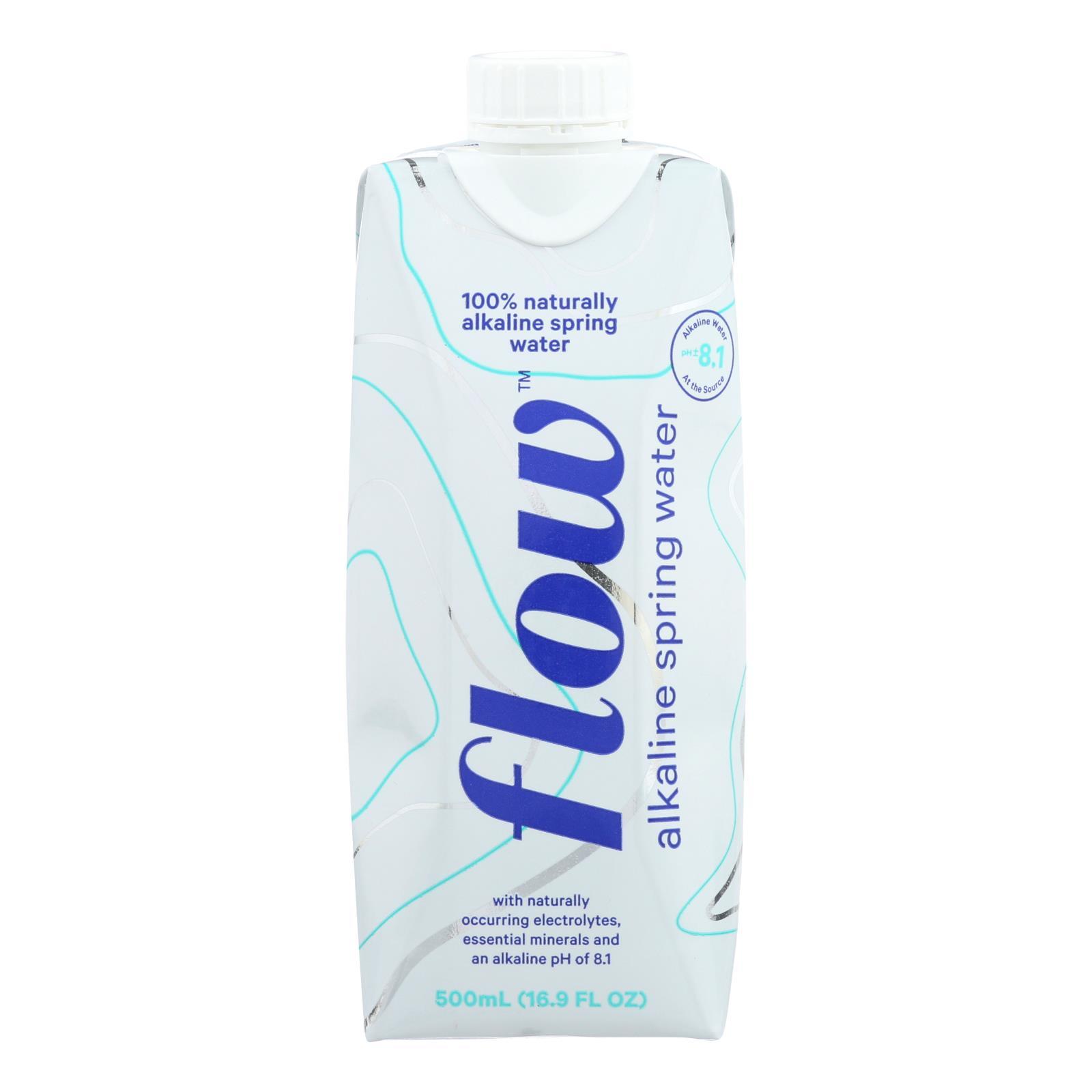 Flow Spring Water - Natural Alkaline - Case of 12 - 500 ML