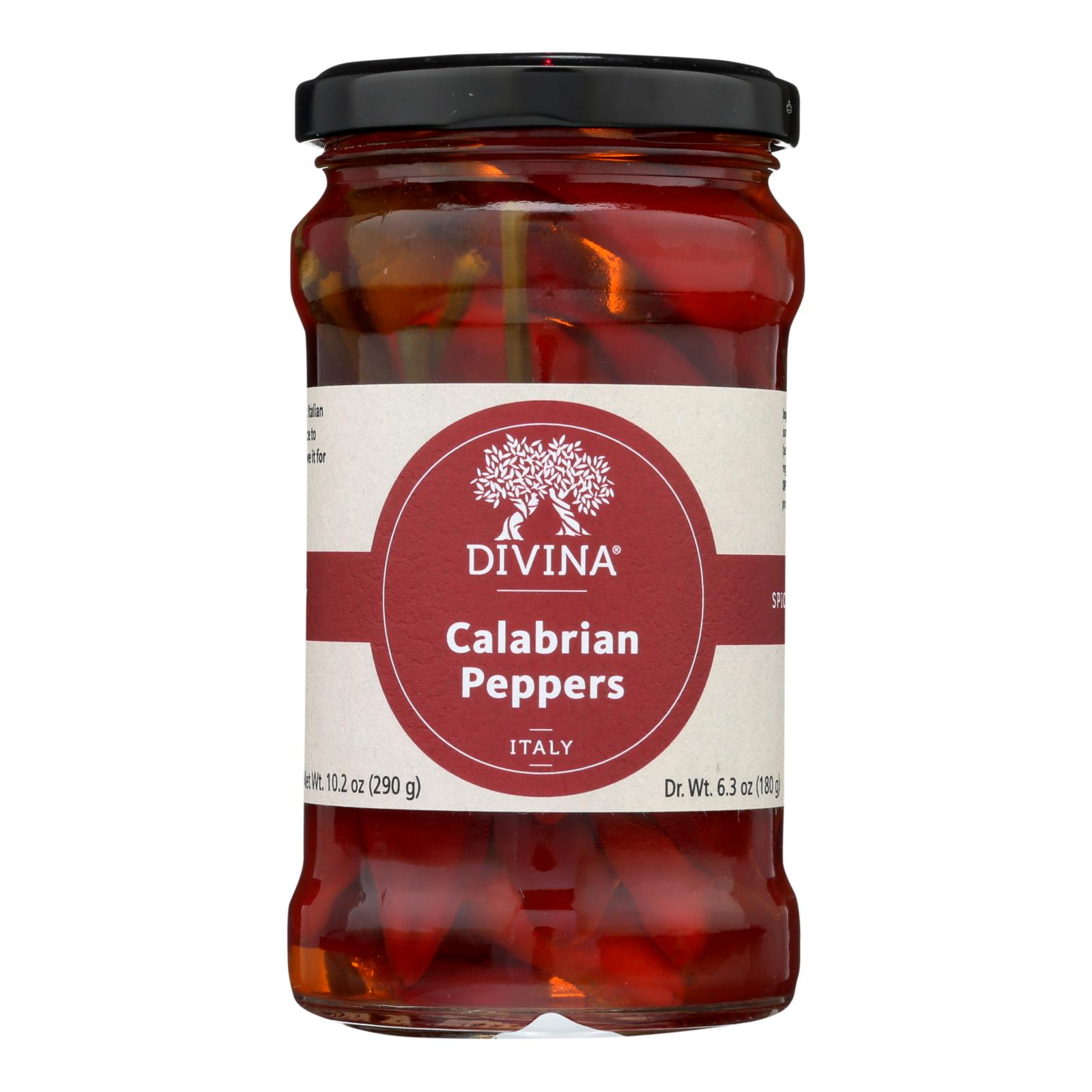 Divina - Peppers Calabrian - Case of 6 - 9.2 OZ