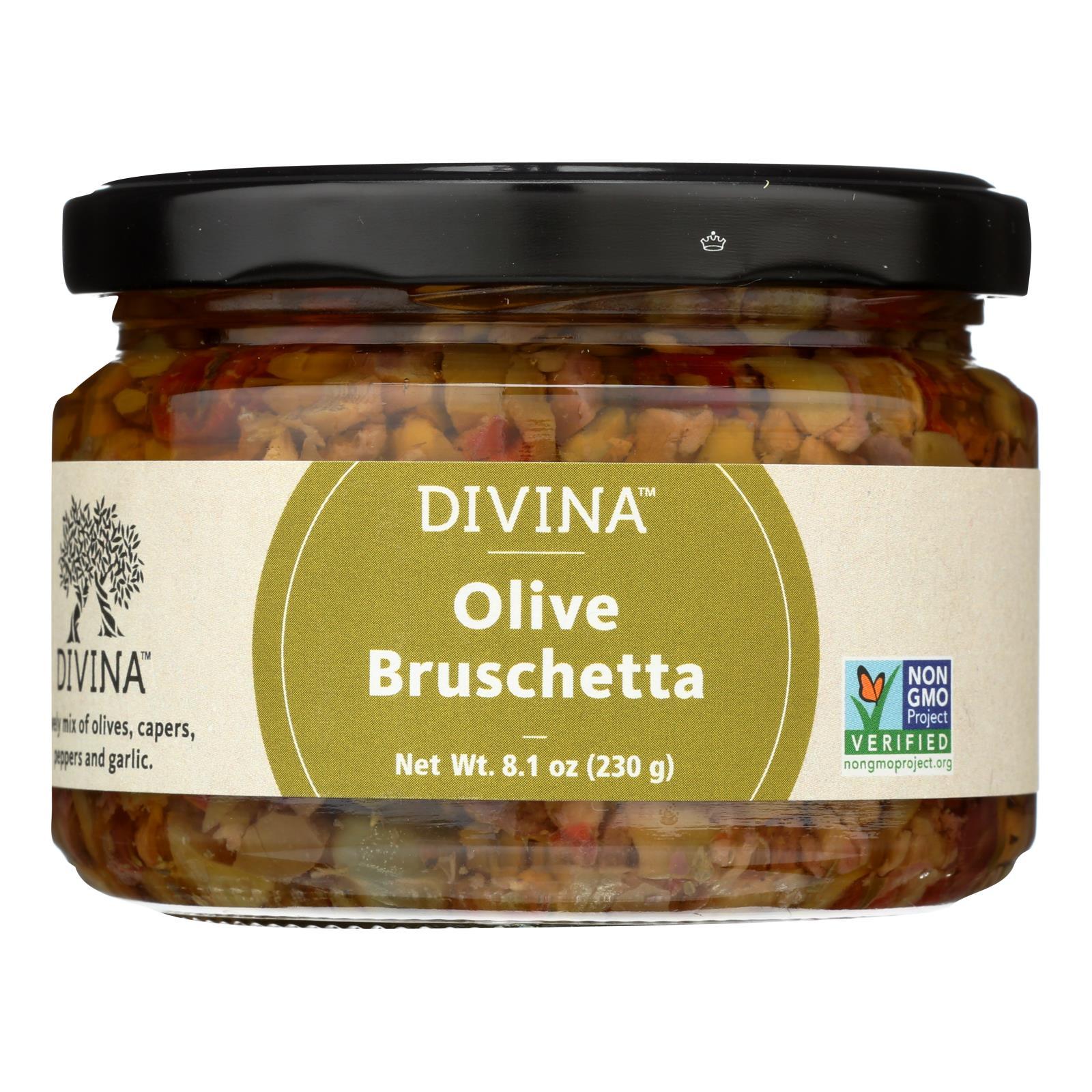 Divina - Olive Bruschetta - Case of 6 - 8.1 oz.