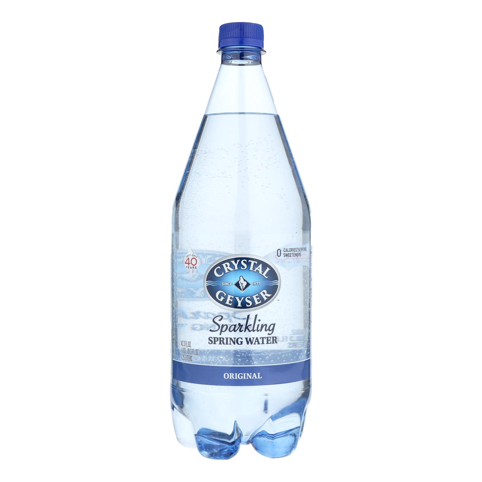 Crystal Geyser Sparkling Mineral Water - Original - Case of 12 - 1.25 Liter