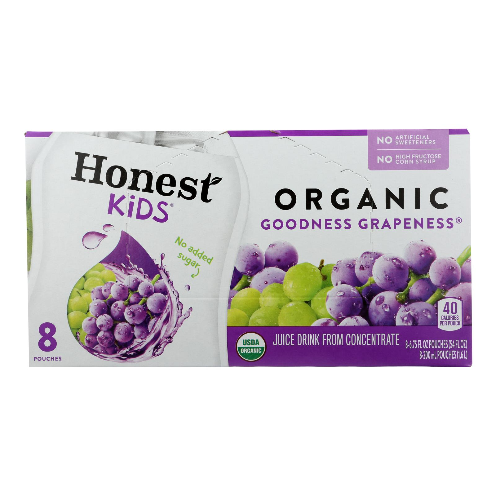 Honest Kids Honest Kids Goodness Grapeness - Goodness Grapeness - Case of 4 - 6.75 Fl oz.