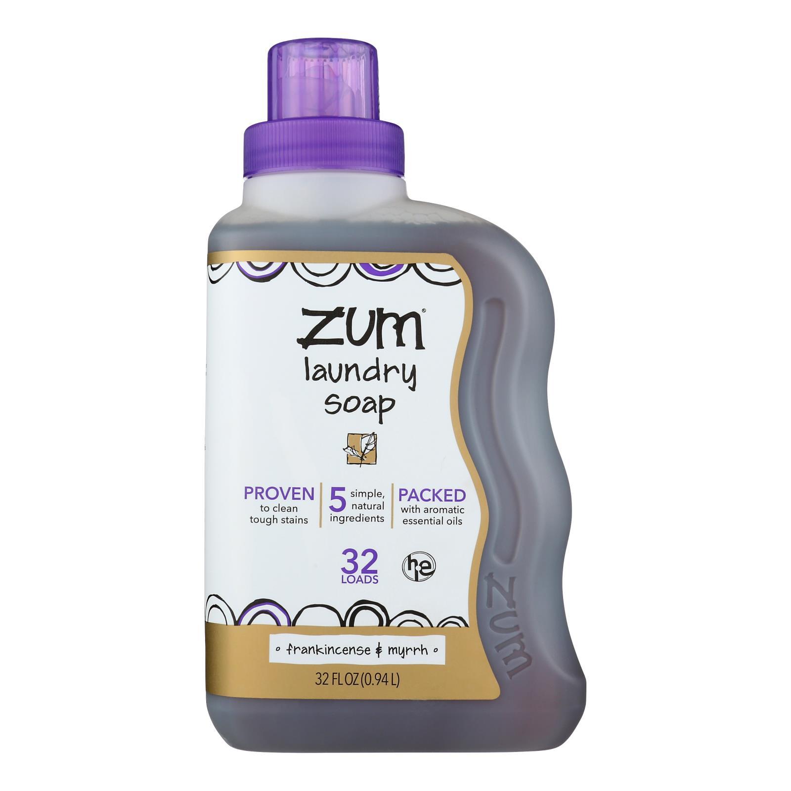 Zum - Clean Laundry Soap - Frankincense and Myrrh - Case of 8 - 32 oz.