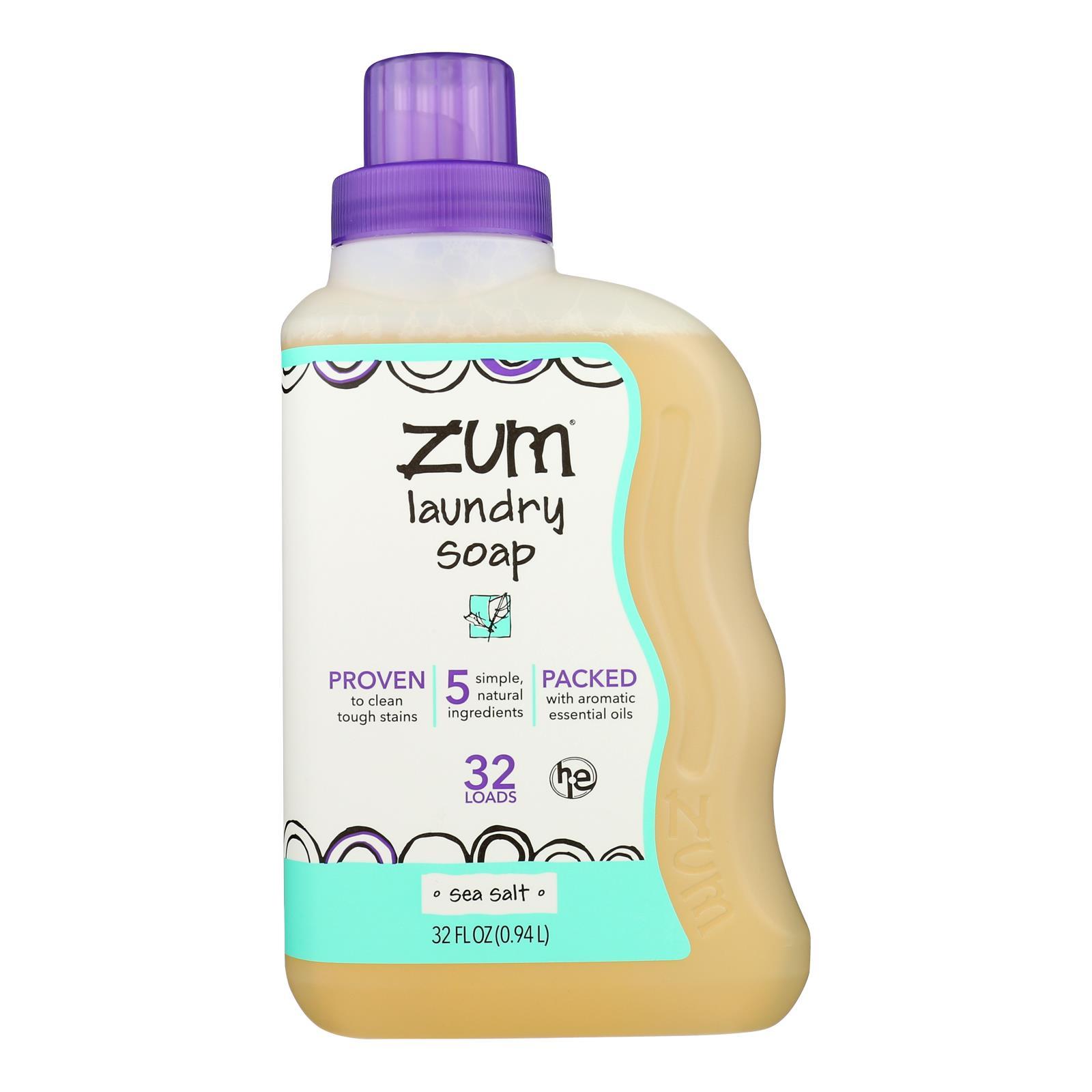 Zum Clean Sea Salt Aromatherapy Laundry Soap - Case of 8 - 32 FZ