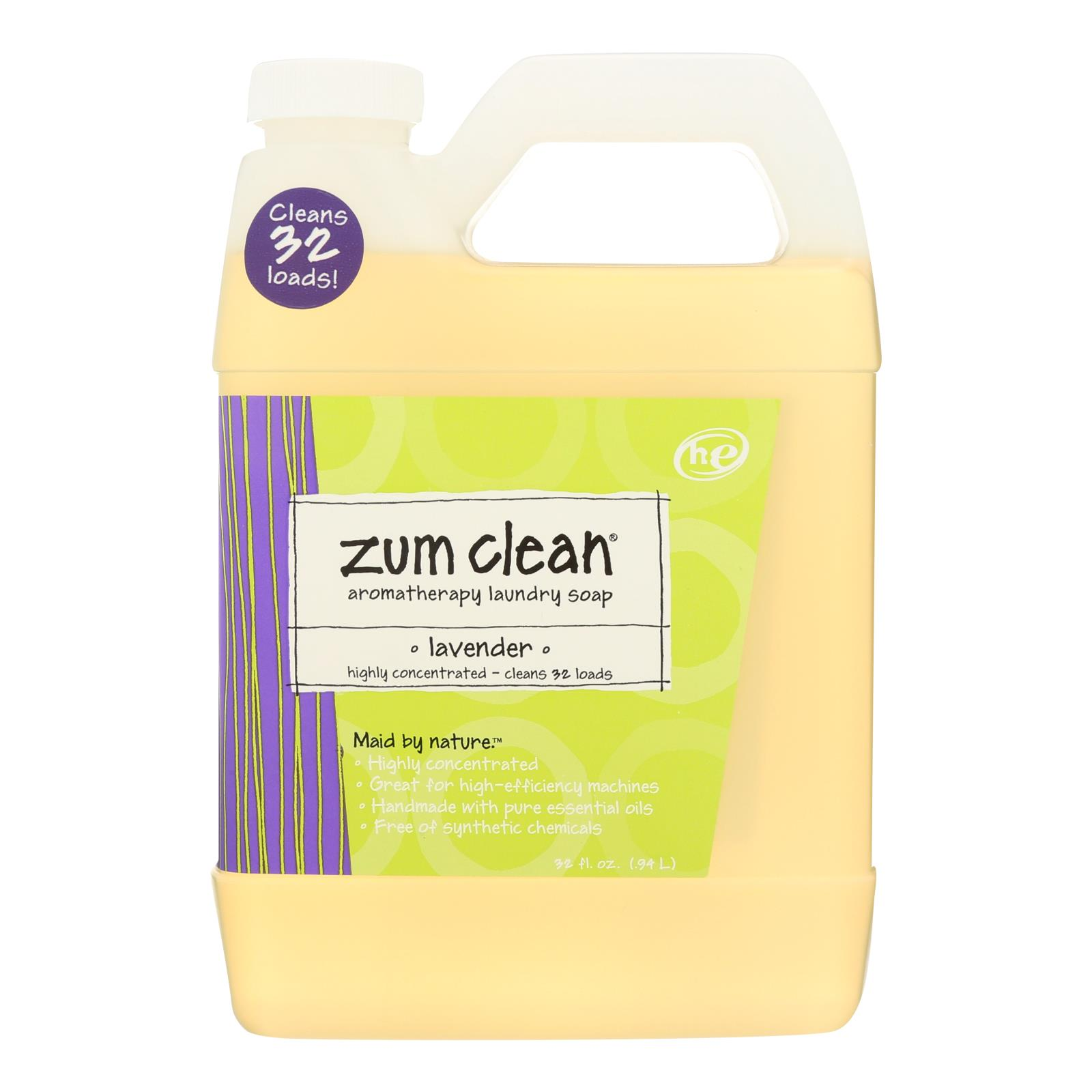 Zum Clean Lavender Laundry Soap  - Case of 8 - 32 FZ