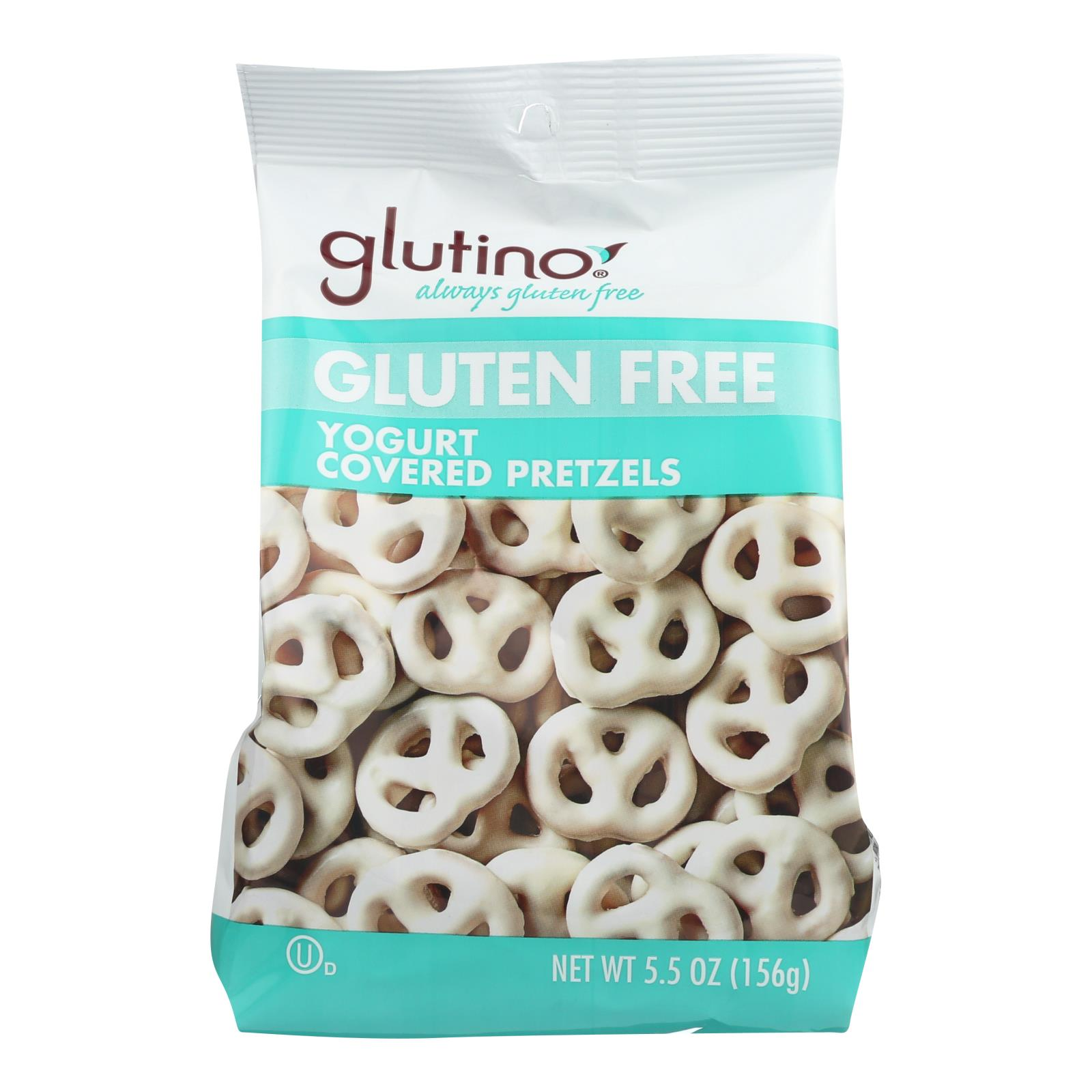 Glutino Peppermint pretzels - Yogurt - Case of 12 - 5.5 oz.