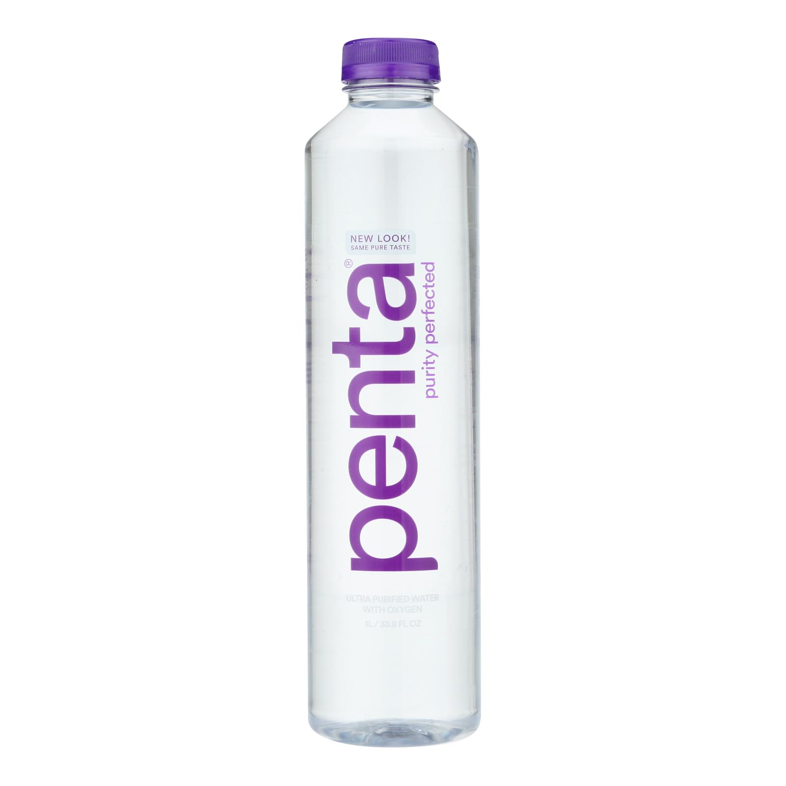 Penta Purified Water Ultra Purified Water - Case of 12 - 1 Liter