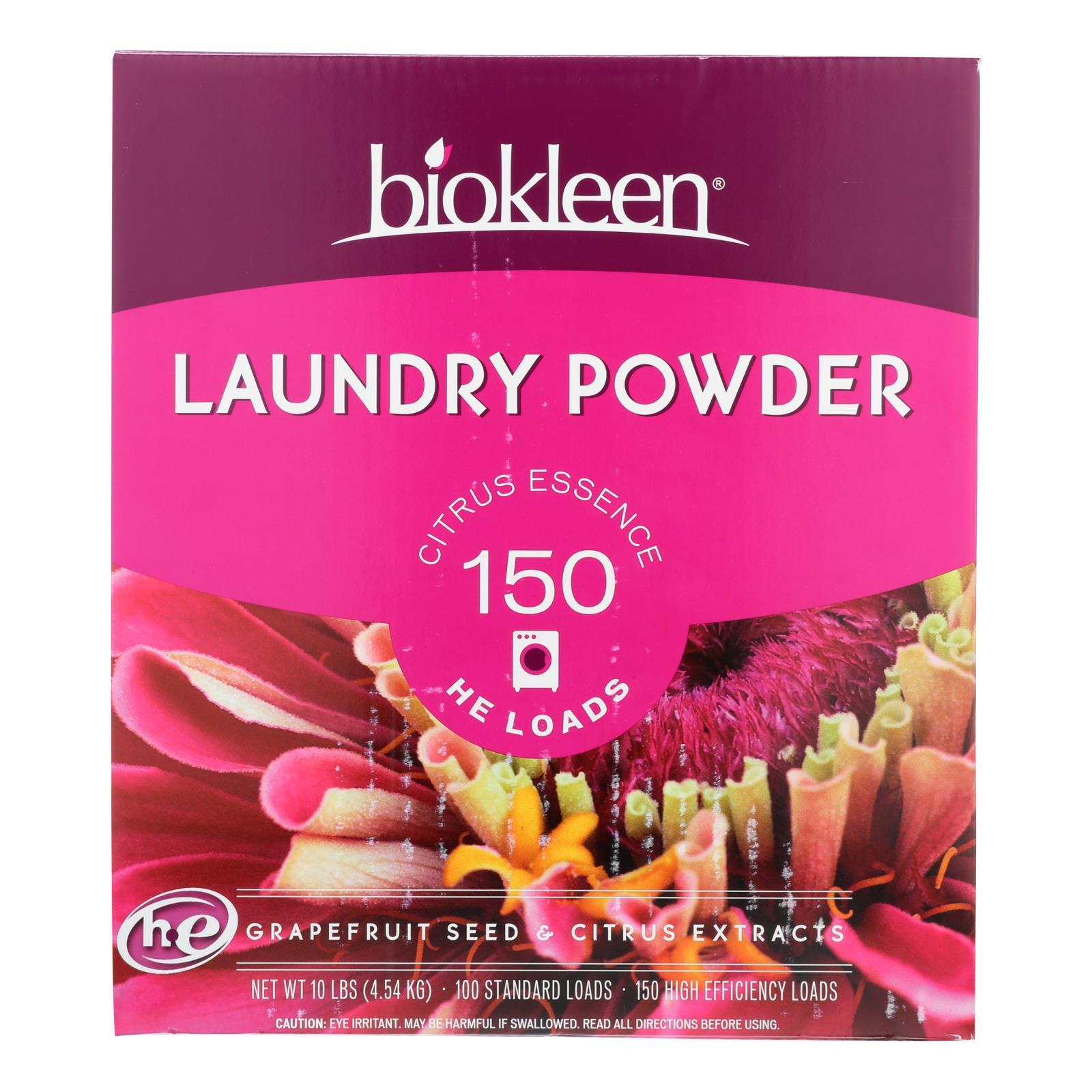 Biokleen Laundry Powder - Citrus Essence - 10 lb