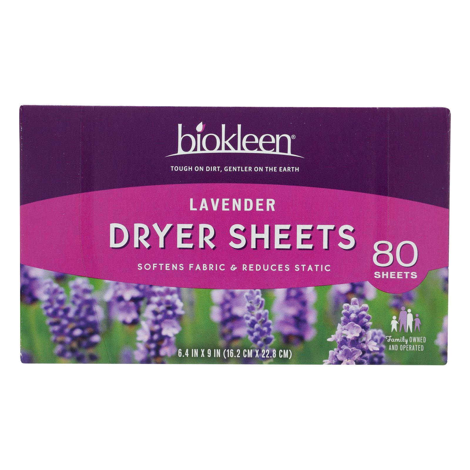 Biokleen - Dryer Sheets Lavender - Case of 6 - 80 CT